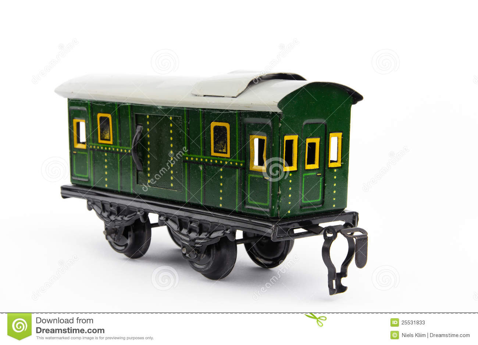 Vecchio treno del giocattolo