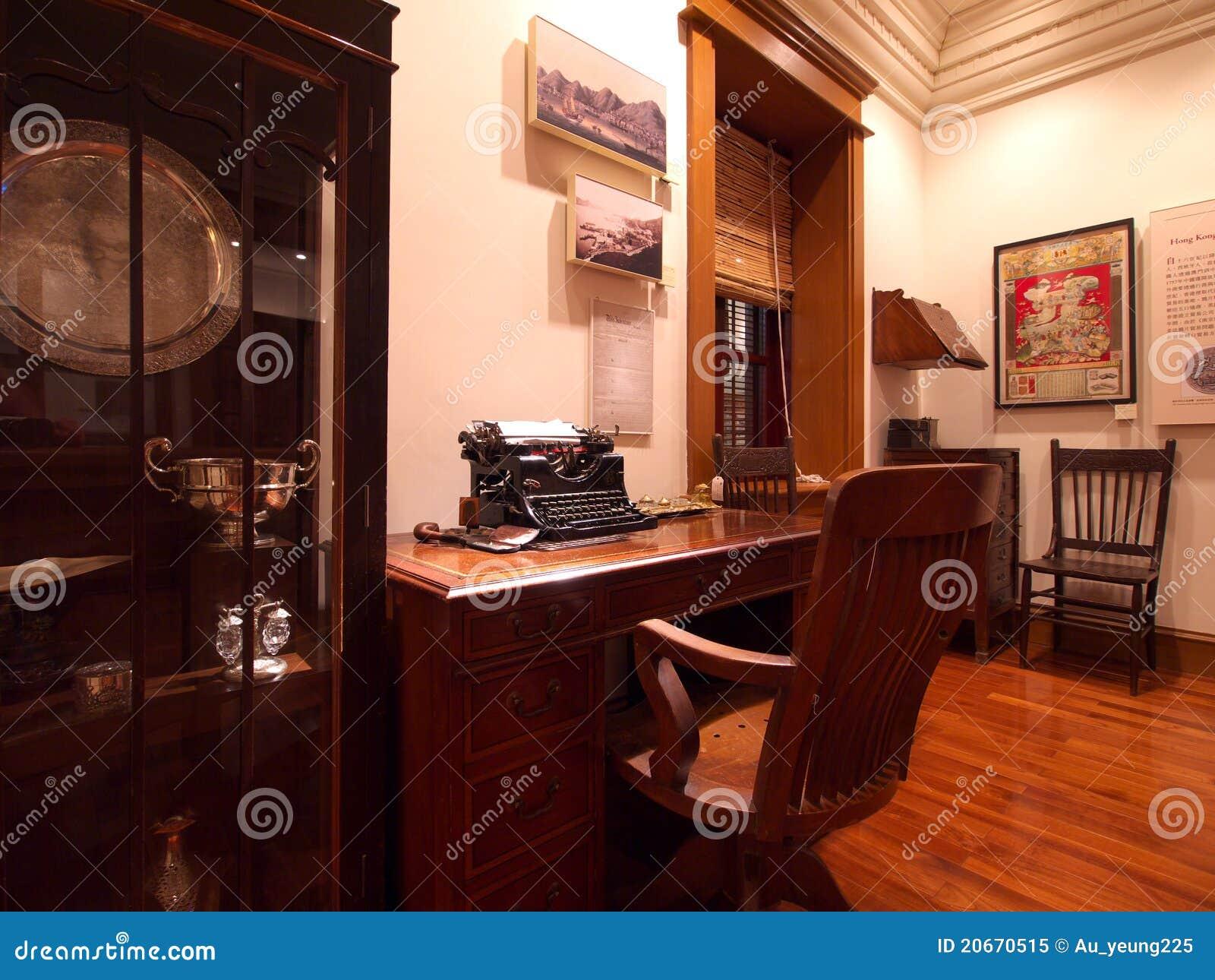 Vecchio ufficio di stile britannico immagine editoriale for Porticati vecchio stile