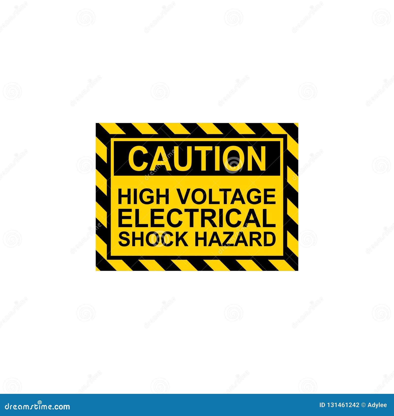 Vecteur à haute tension de risque de choc électrique de signe de danger