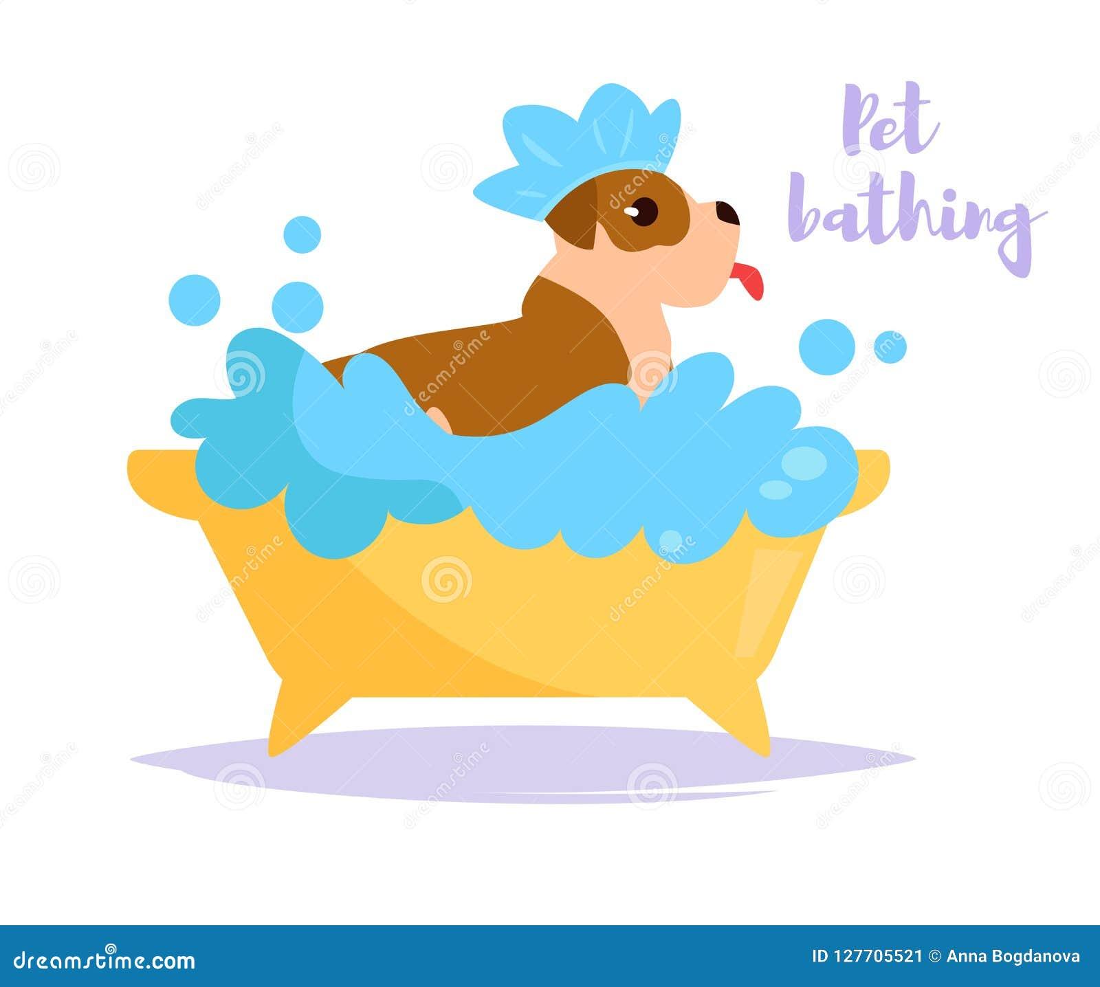 Vecteur animal de bain cartoon Art d isolement sur le fond blanc