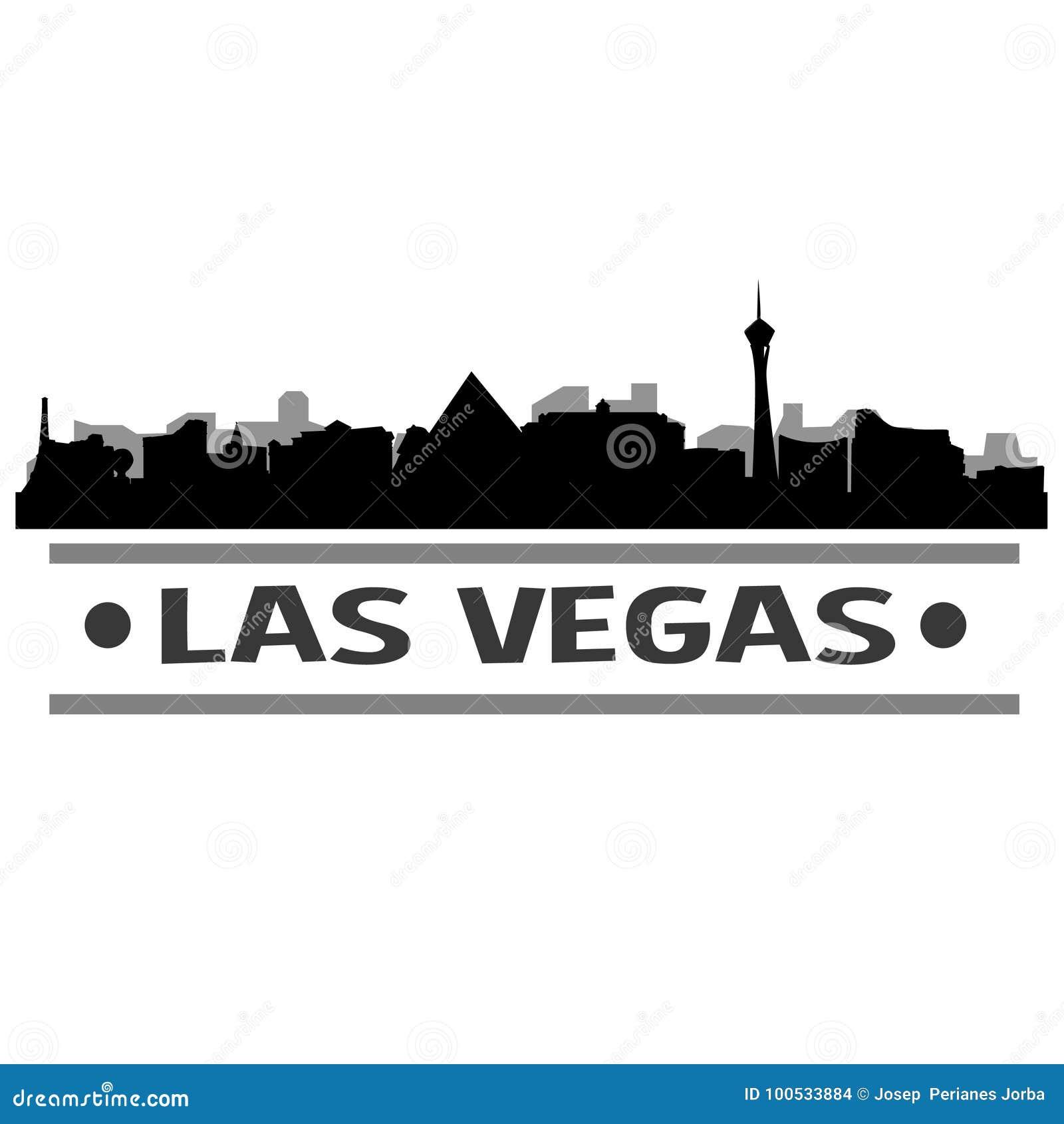 Vecteur Art Design d icône de ville d horizon de Las Vegas