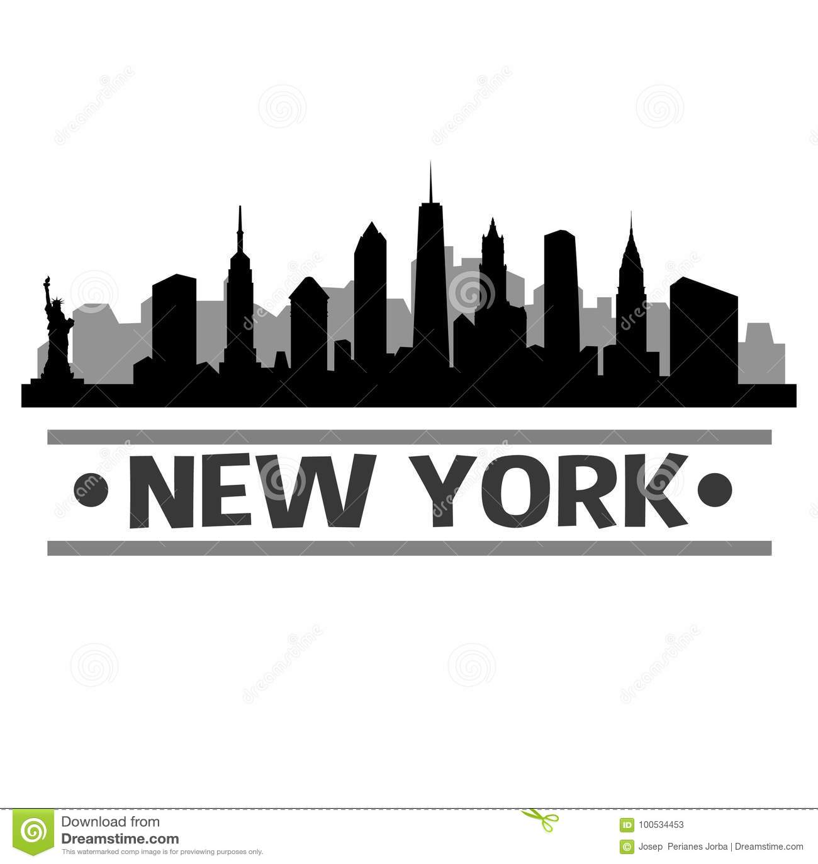 Vecteur Art Design d icône de ville d horizon de New York