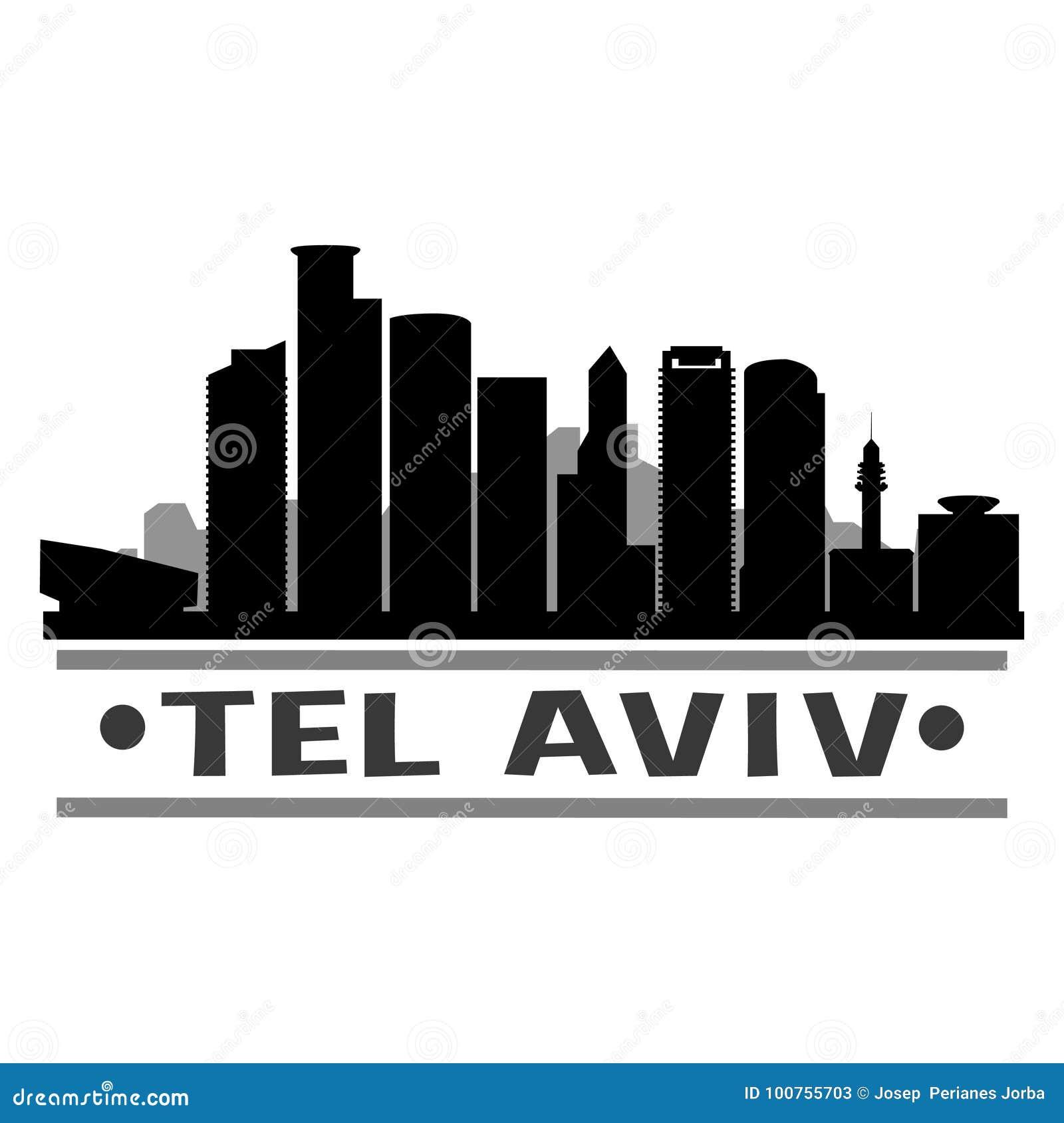 Vecteur Art Design Skyline d icône de ville de Tel Aviv
