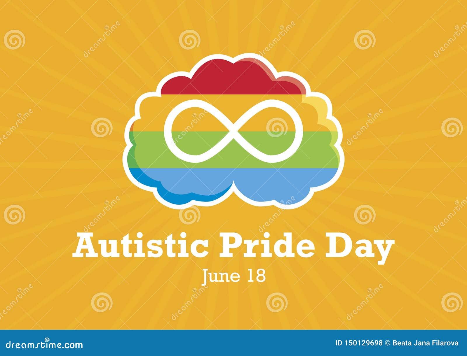 Vecteur autiste de jour de fiert?