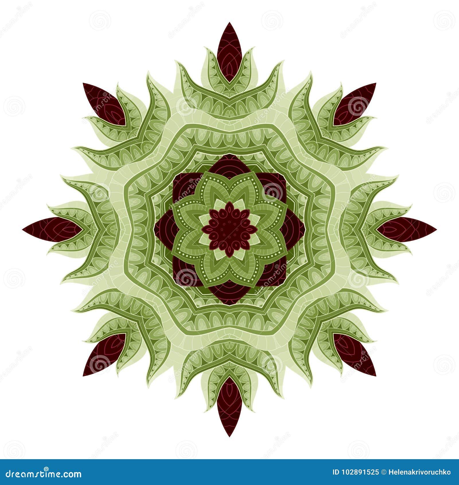 Vecteur belle Mandala In Color