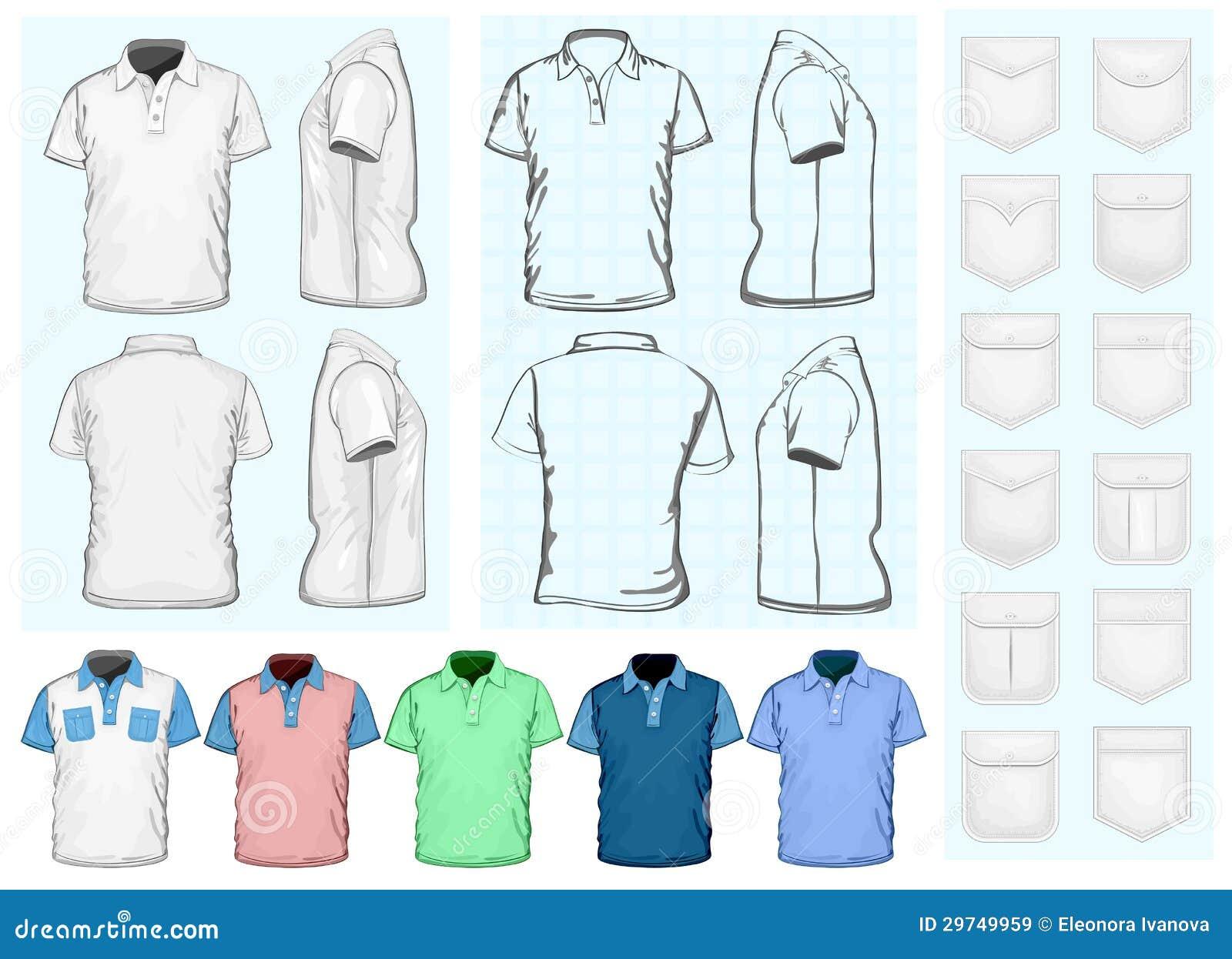 Calibre de conception de la polo-chemise des hommes