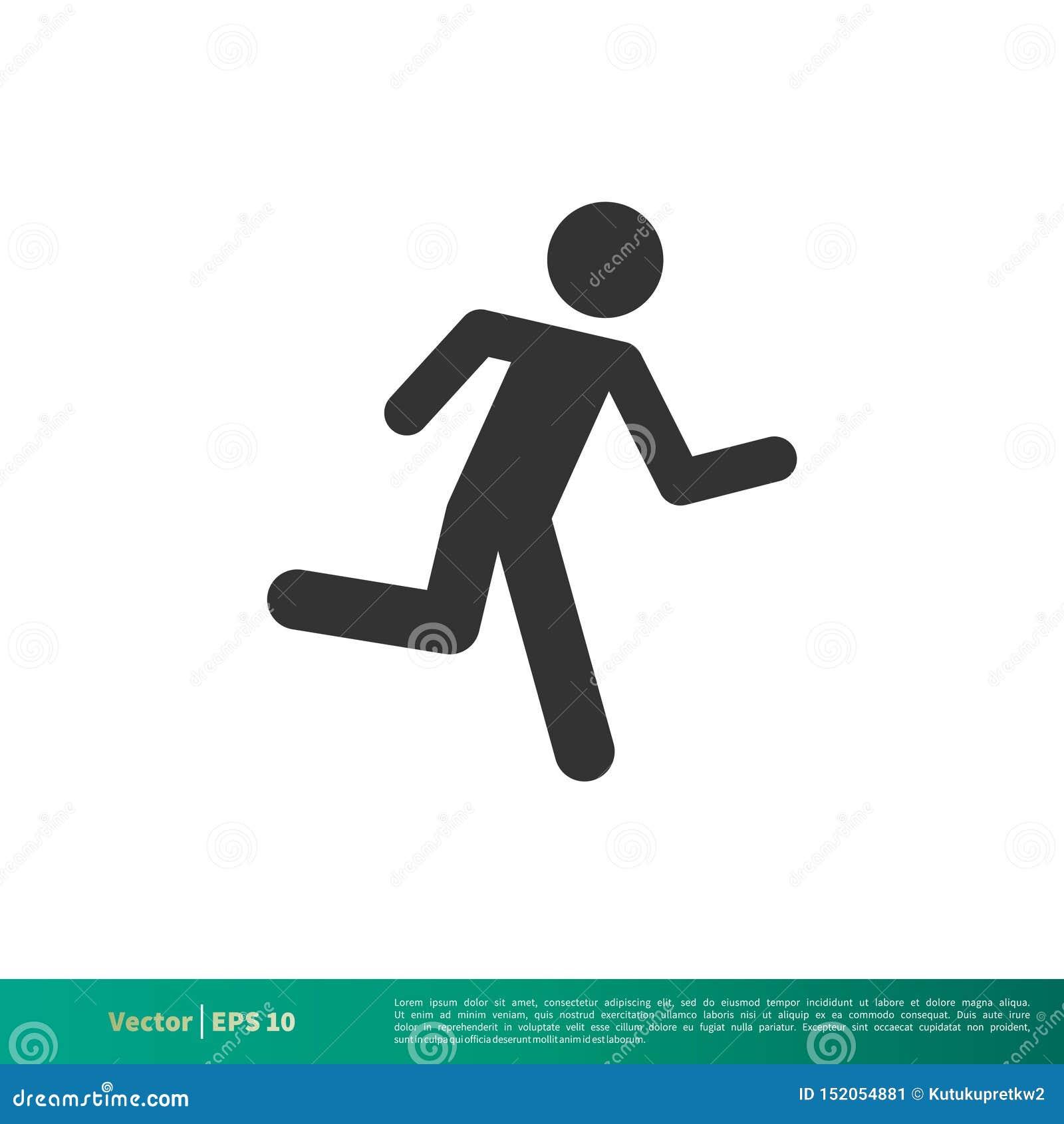 Vecteur courant Logo Template Illustration Design d icône d homme de bâton Vecteur ENV 10