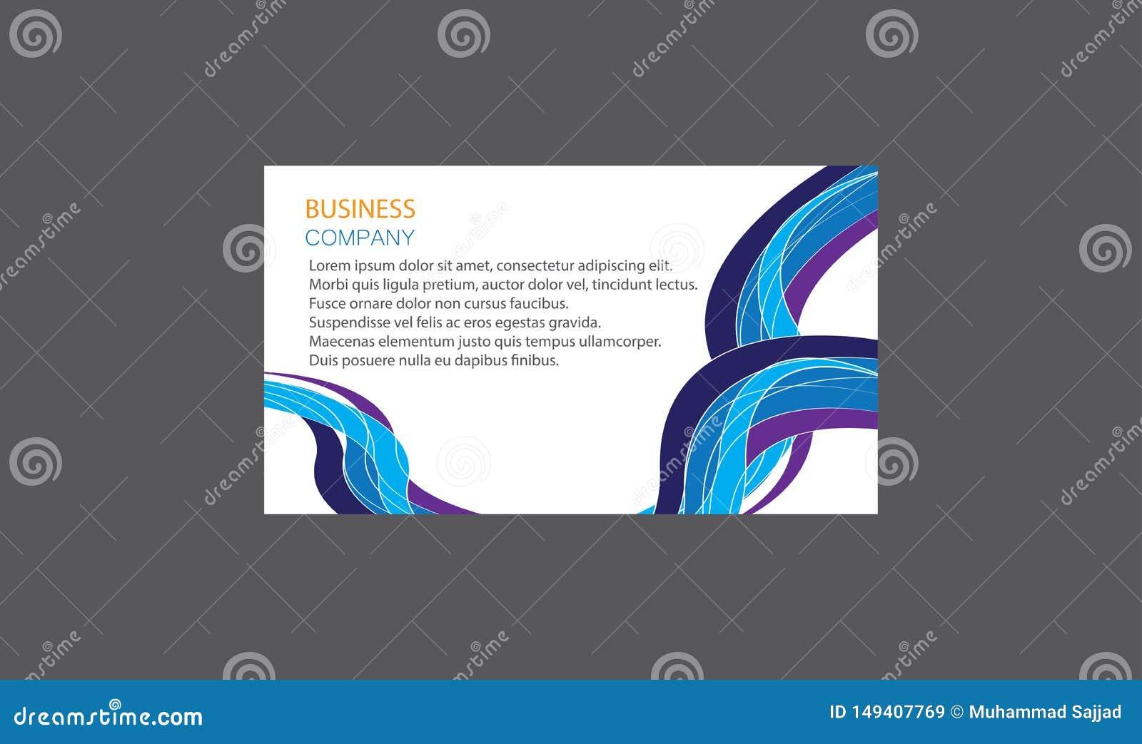 Vecteur cr?atif moderne cr?atif de design de carte d affaires de Layout Clean Company de calibres de cartes de visite professionn