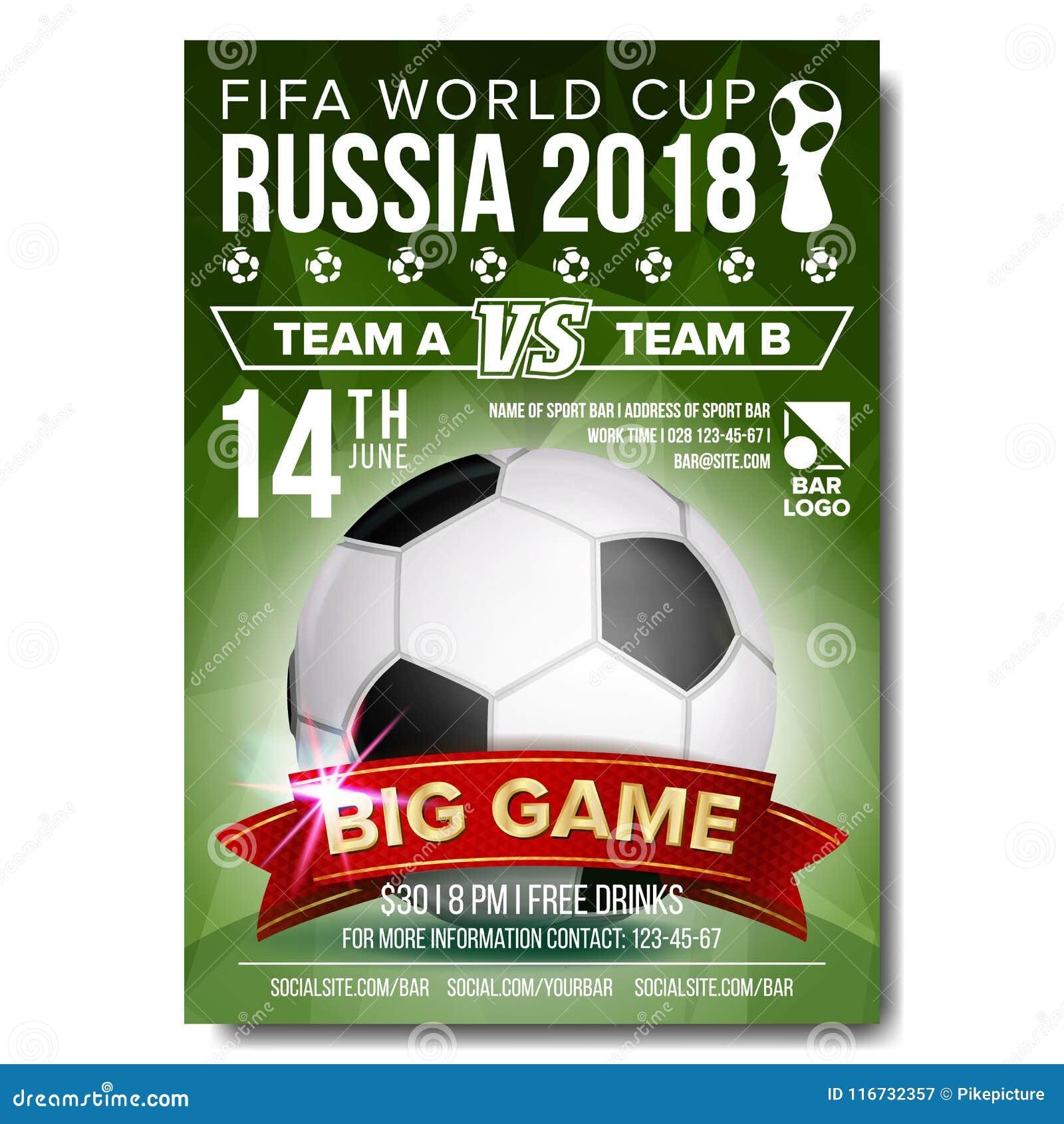 Coupe Du Monde 2018 Football Fifa Russie: Vecteur 2018 D'affiche De Coupe Du Monde De La FIFA