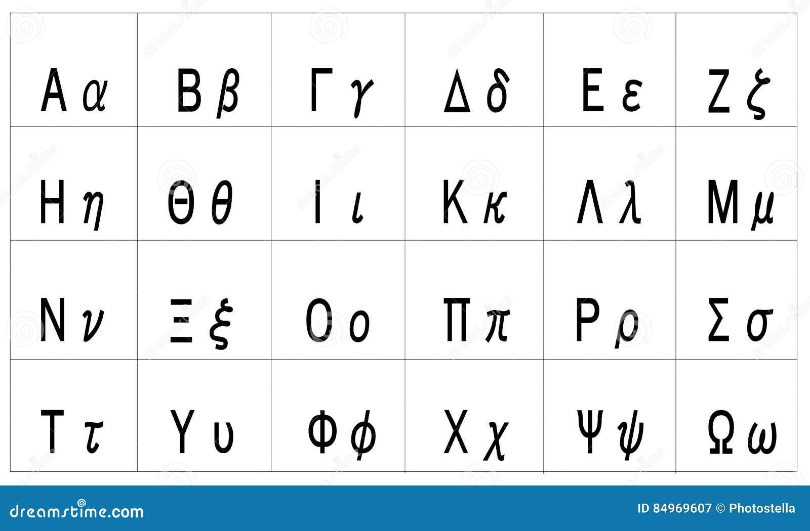 Super Vecteur D'alphabet Grec Avec Les Lettres Majuscules Et Minuscules  YL31