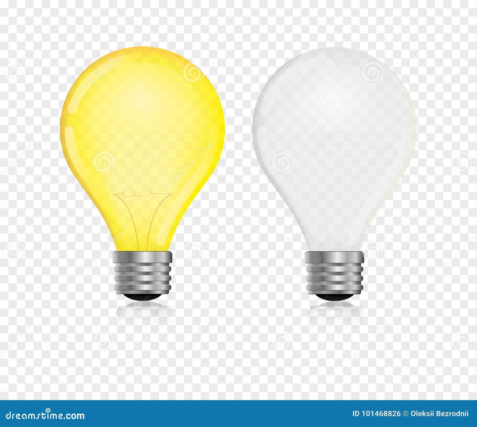 Vecteur d ampoule réaliste