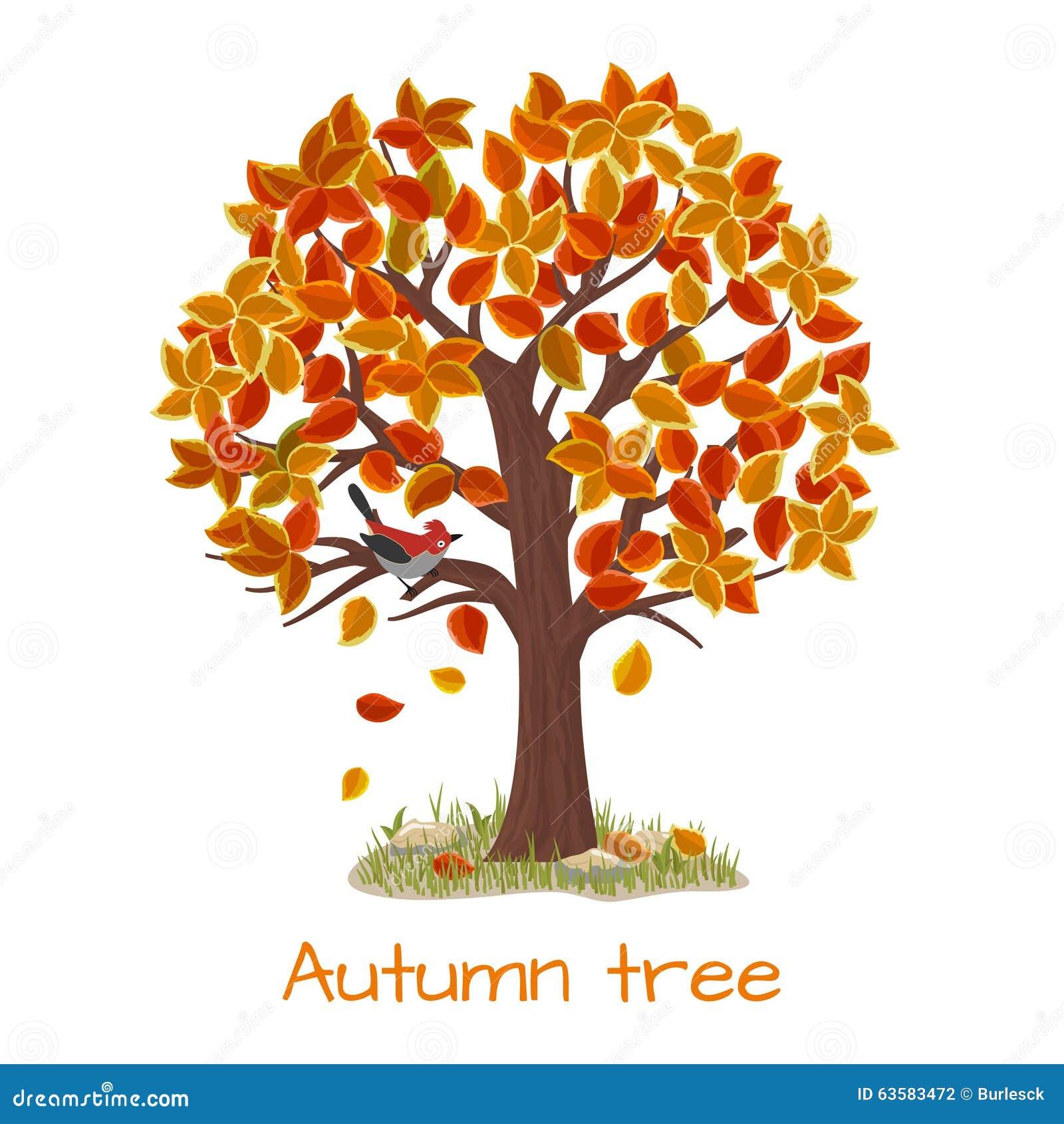 Vecteur d 39 arbre d 39 automne illustration de vecteur illustration du vous 63583472 - Arbre automne dessin ...