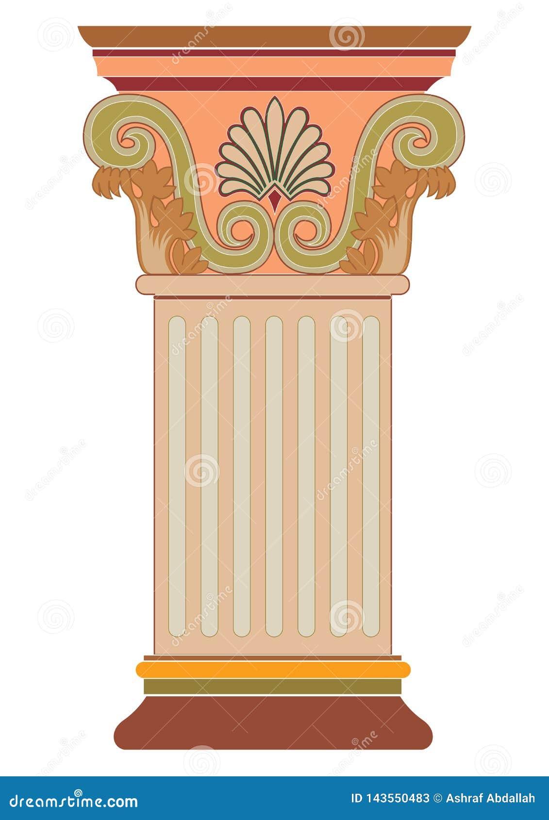Vecteur d?coratif grec de colonne de vieil art classique