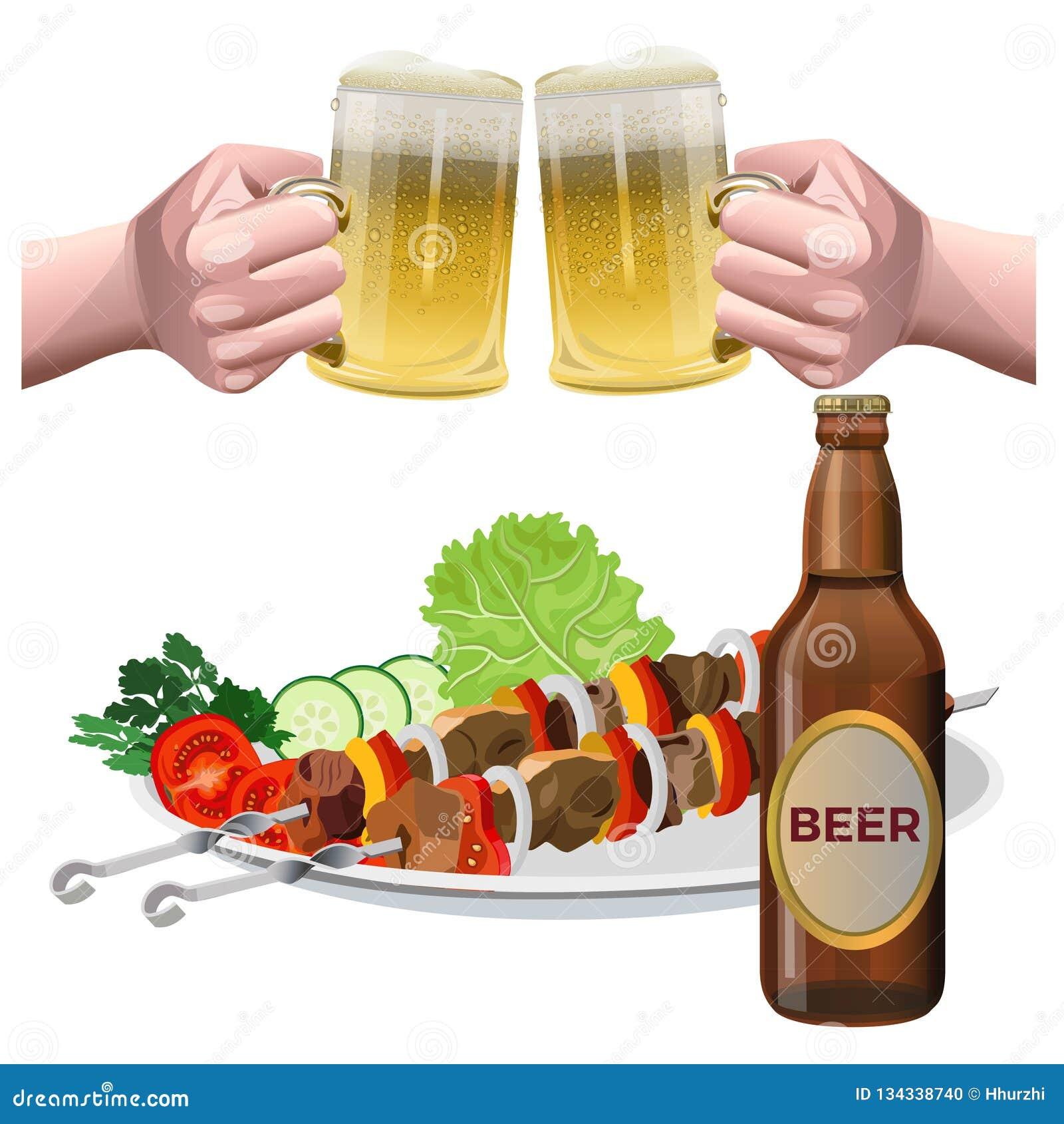 Vecteur d ensemble de bière