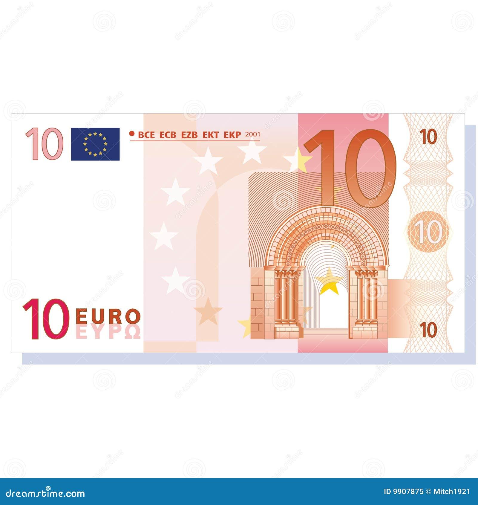 Vecteur d euro de billet de banque