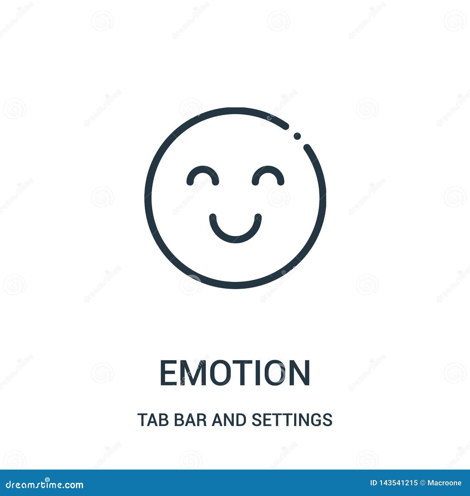 Vecteur d icône d émotion de barre d étiquette et de collection d arrangements Ligne mince illustration de vecteur d icône d ense