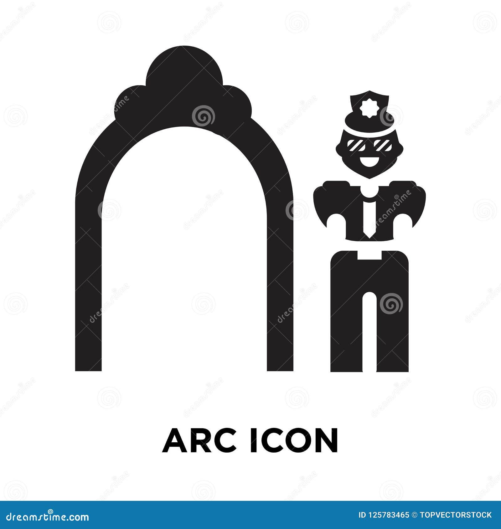 Vecteur d icône d arc d isolement sur le fond blanc, concept de logo de l AR