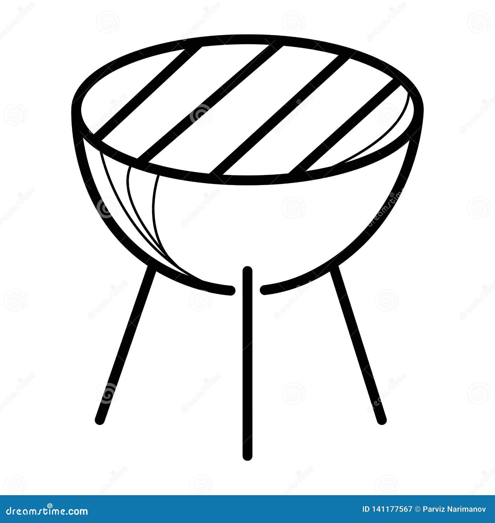 Vecteur d icône de barbecue