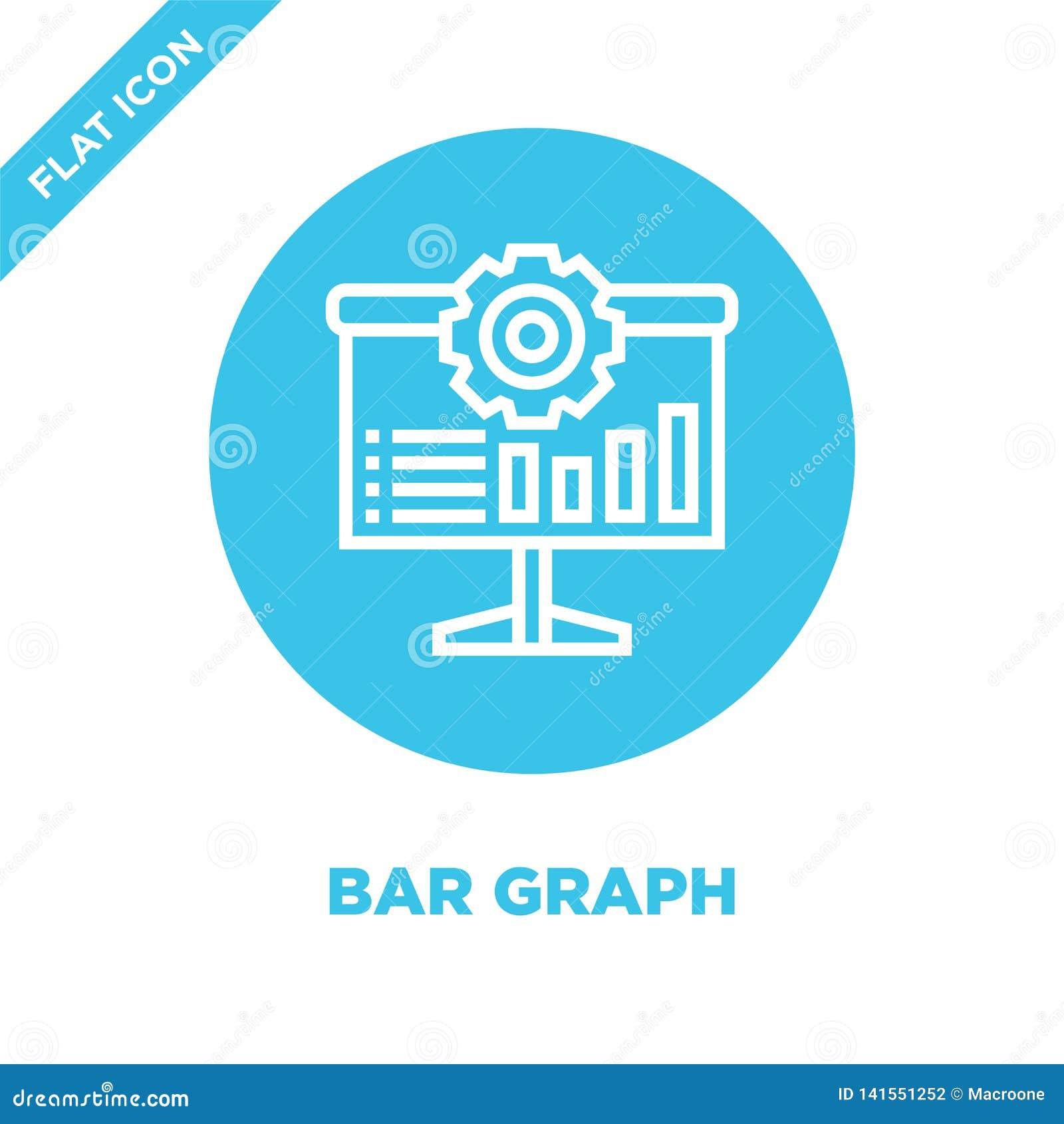 Vecteur d icône de barre analogique Ligne mince illustration de vecteur d icône d ensemble de barre analogique symbole de barre a