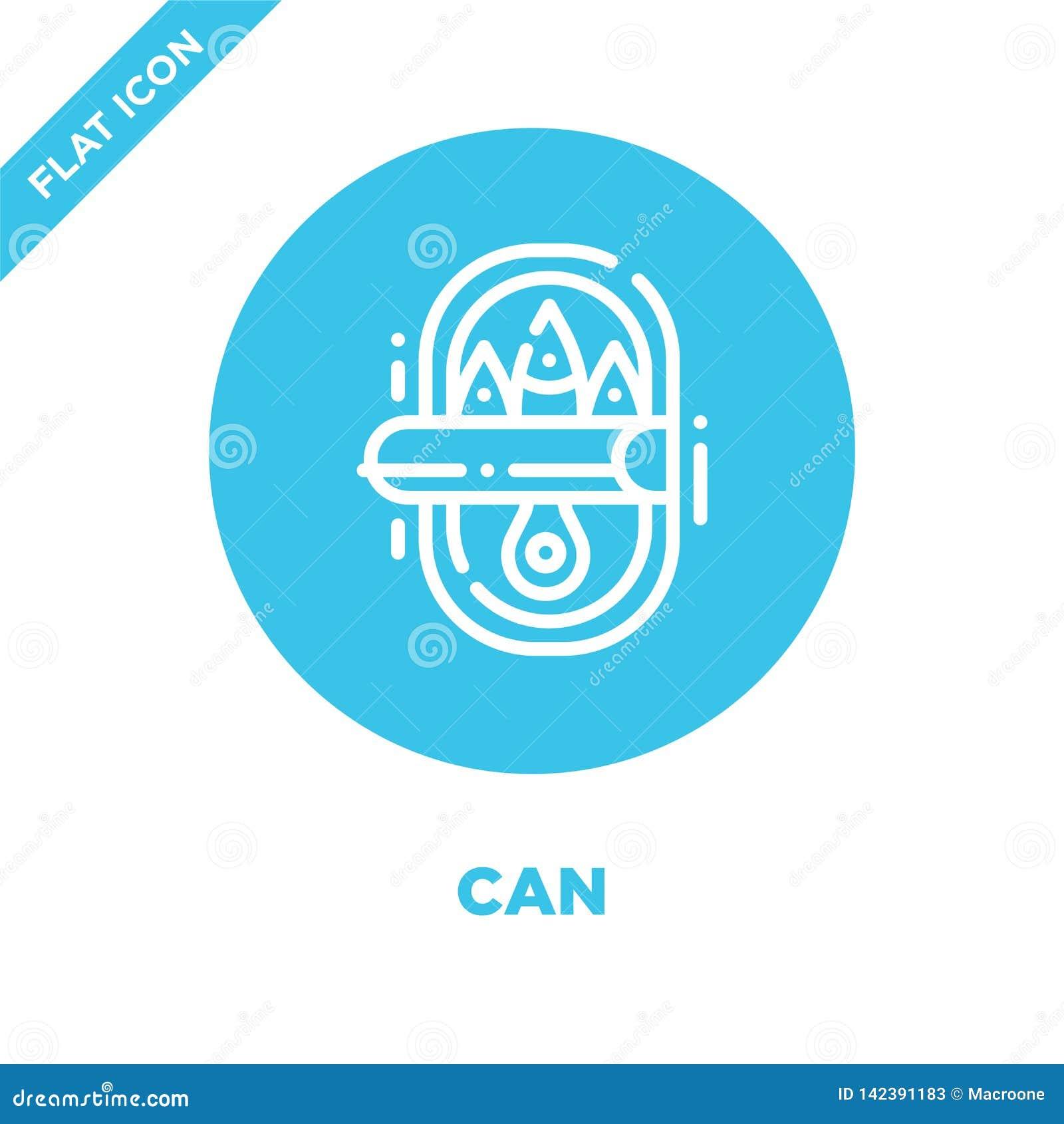 Vecteur d icône de boîte de la collection campante La ligne mince peut décrire l illustration de vecteur d icône Symbole linéaire