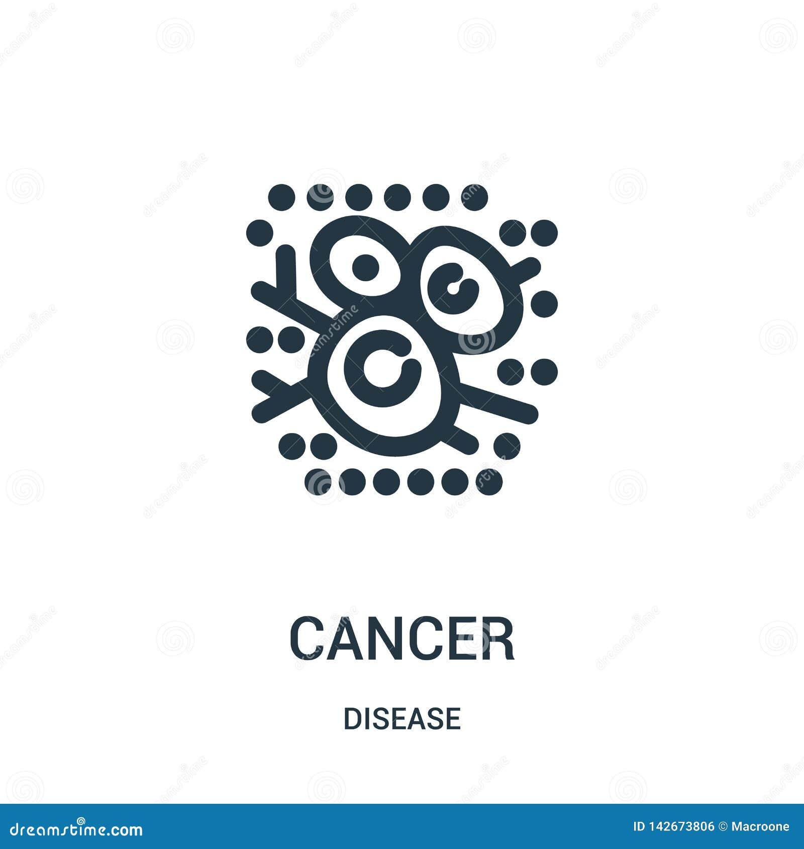 Vecteur d icône de cancer de collection de la maladie Ligne mince illustration de vecteur d icône d ensemble de cancer Symbole li