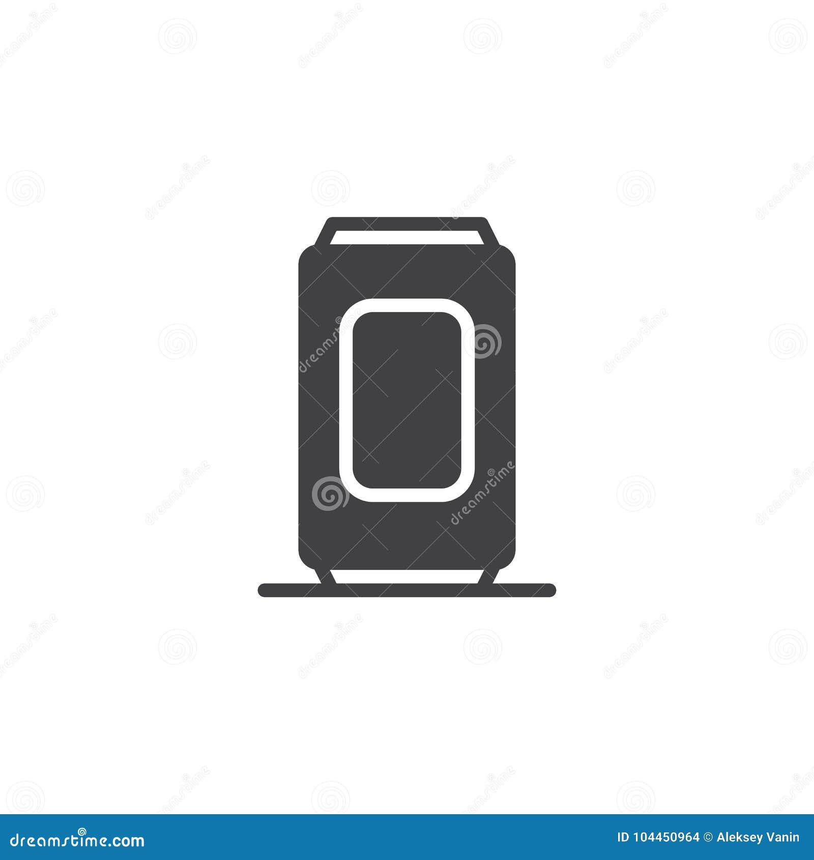Vecteur d icône de canette de bière