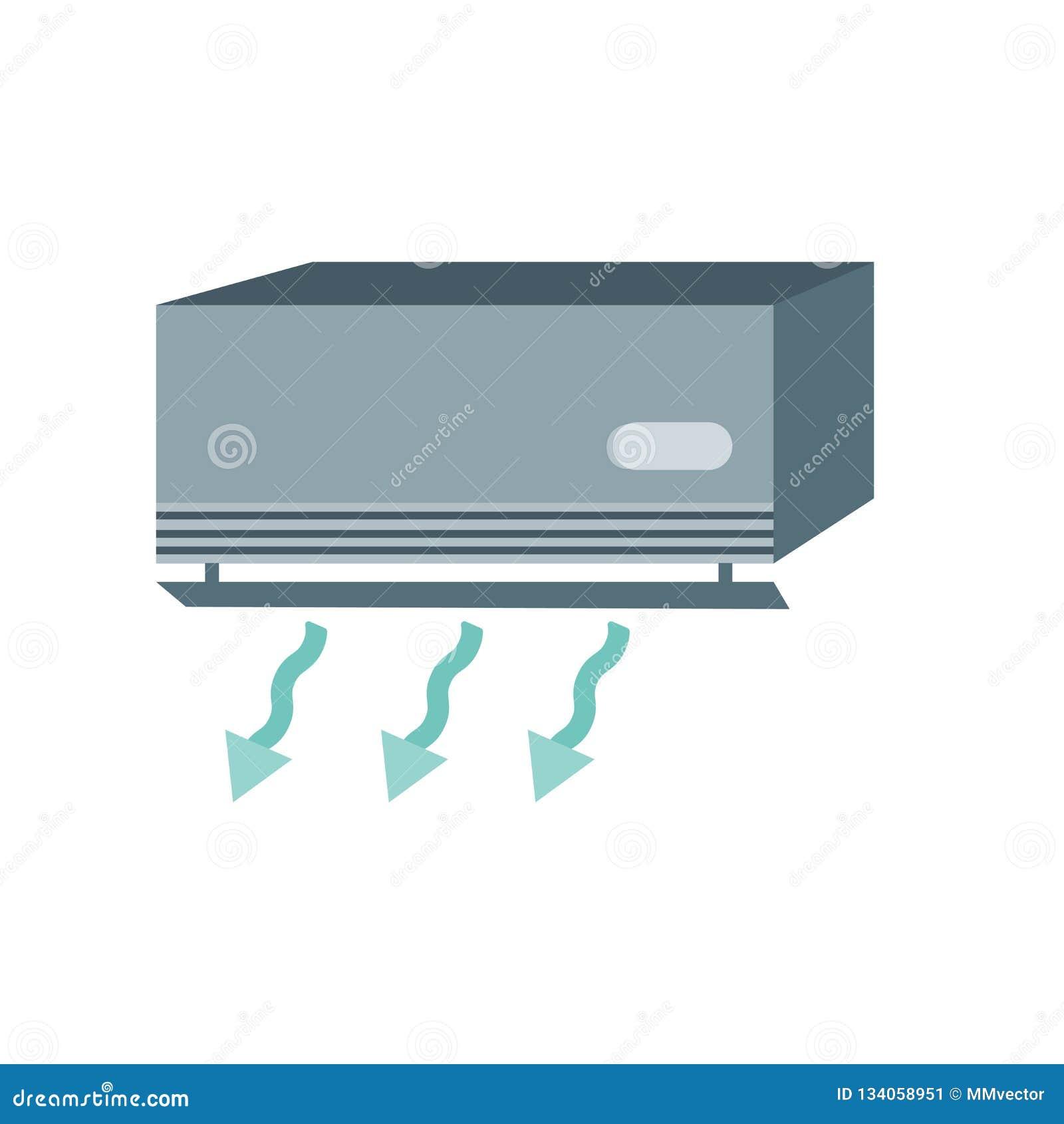 Vecteur d icône de climatisation d isolement sur le fond blanc, signe de climatisation, symboles de temps
