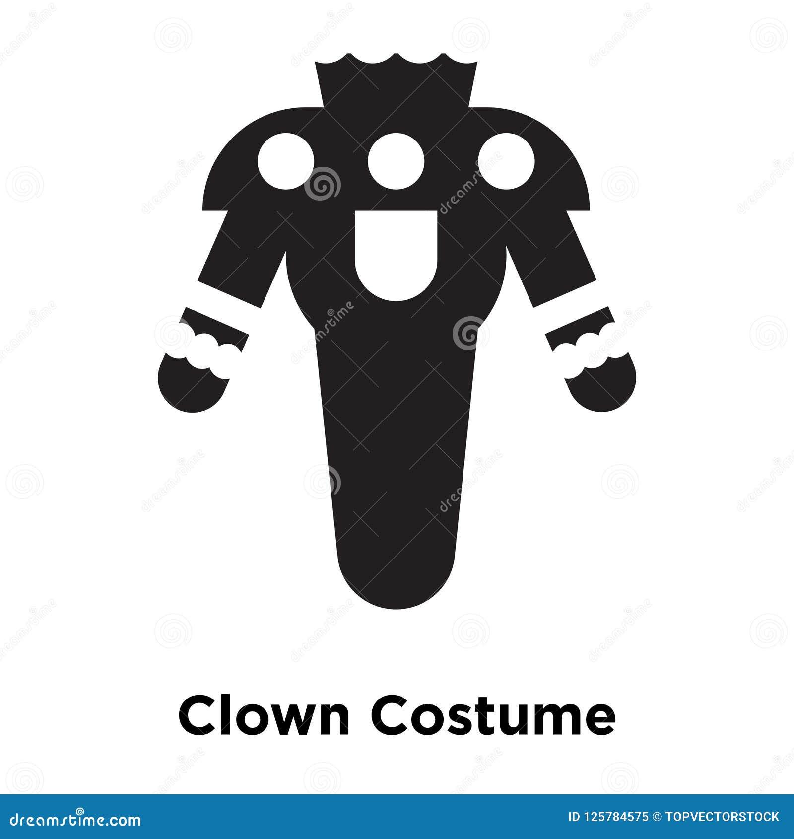 Vecteur d icône de Costume de clown d isolement sur le fond blanc, escroquerie de logo