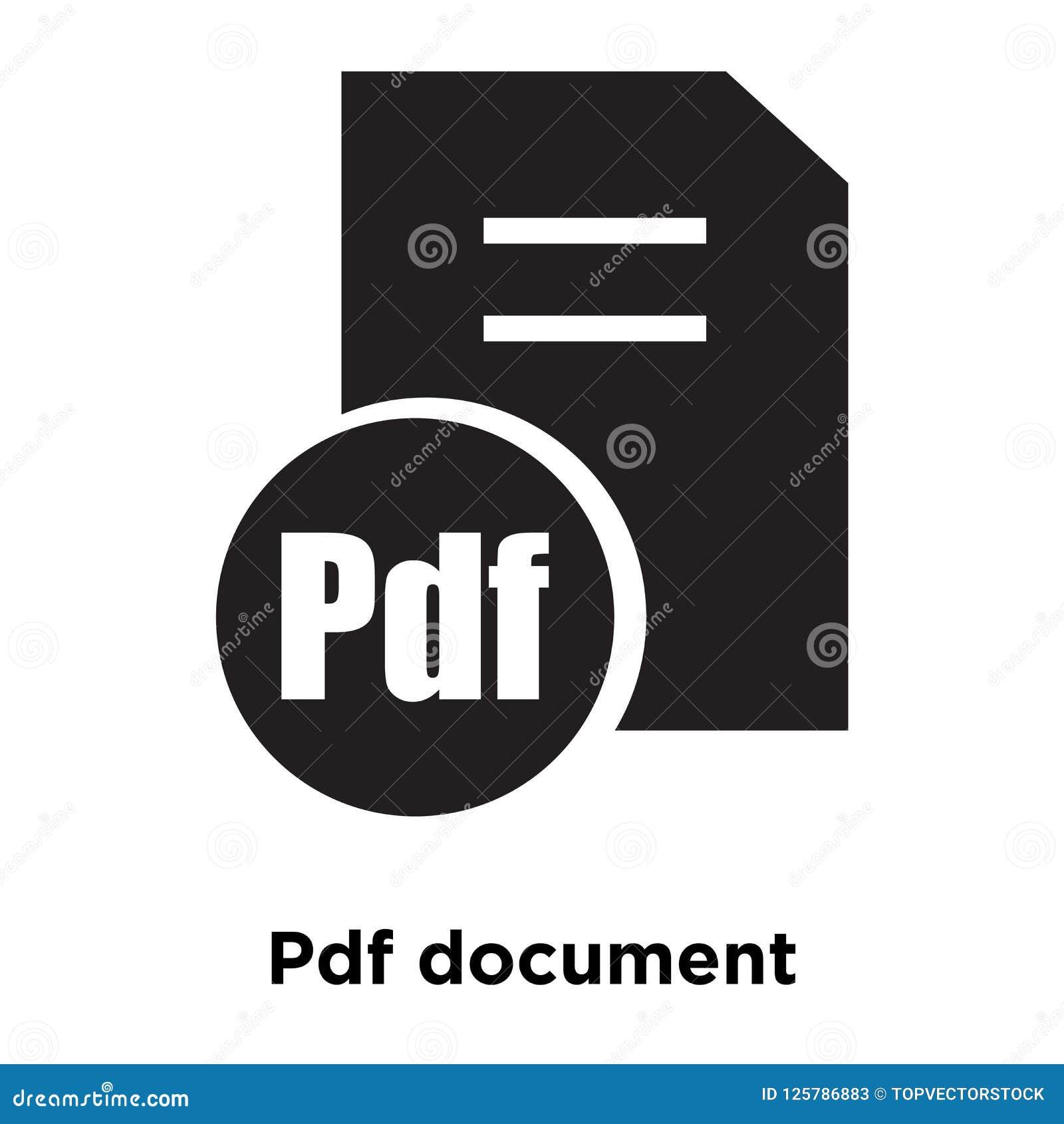 Vecteur d icône de document de PDF d isolement sur le fond blanc, logo concentré