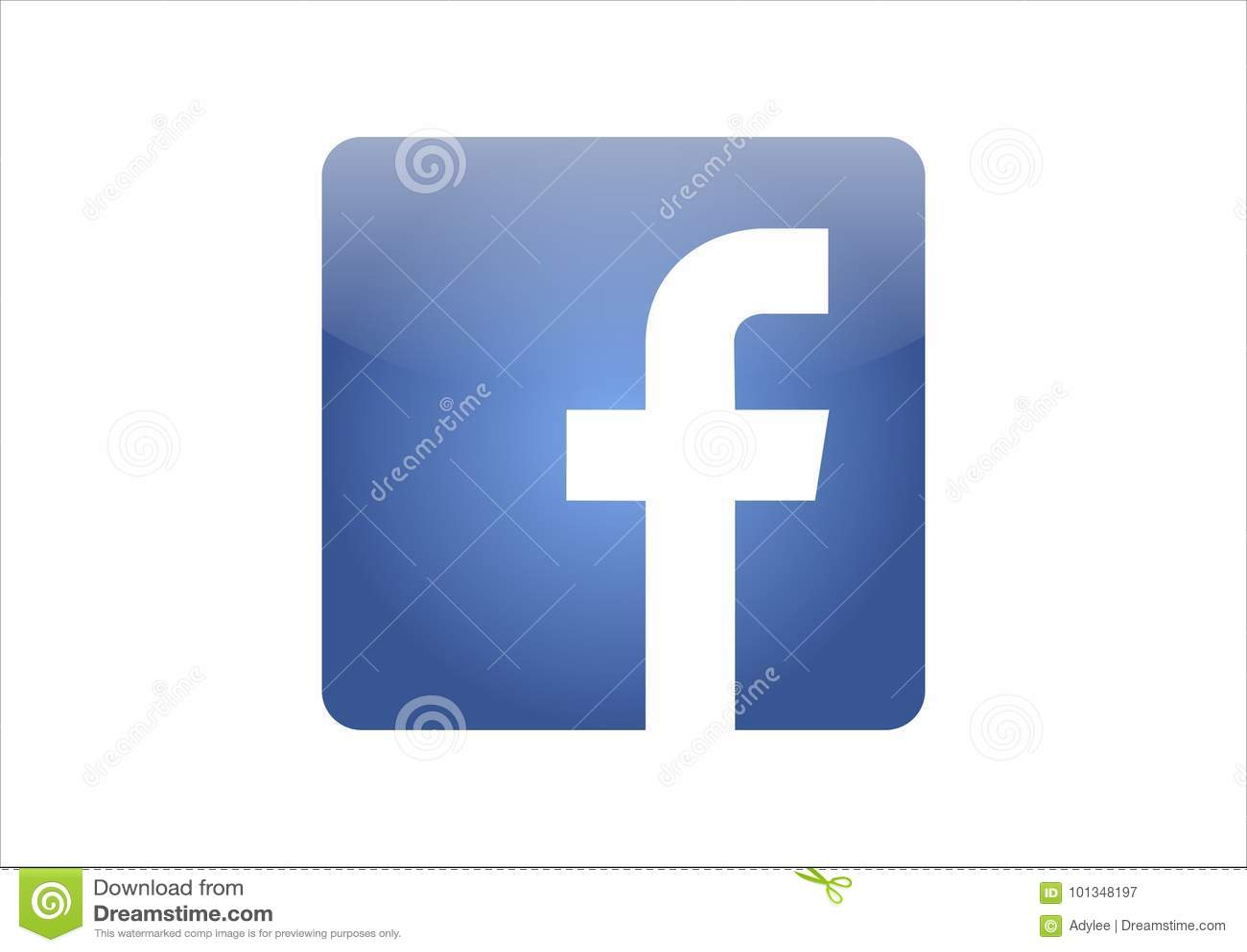 Vecteur d icône de Facebook