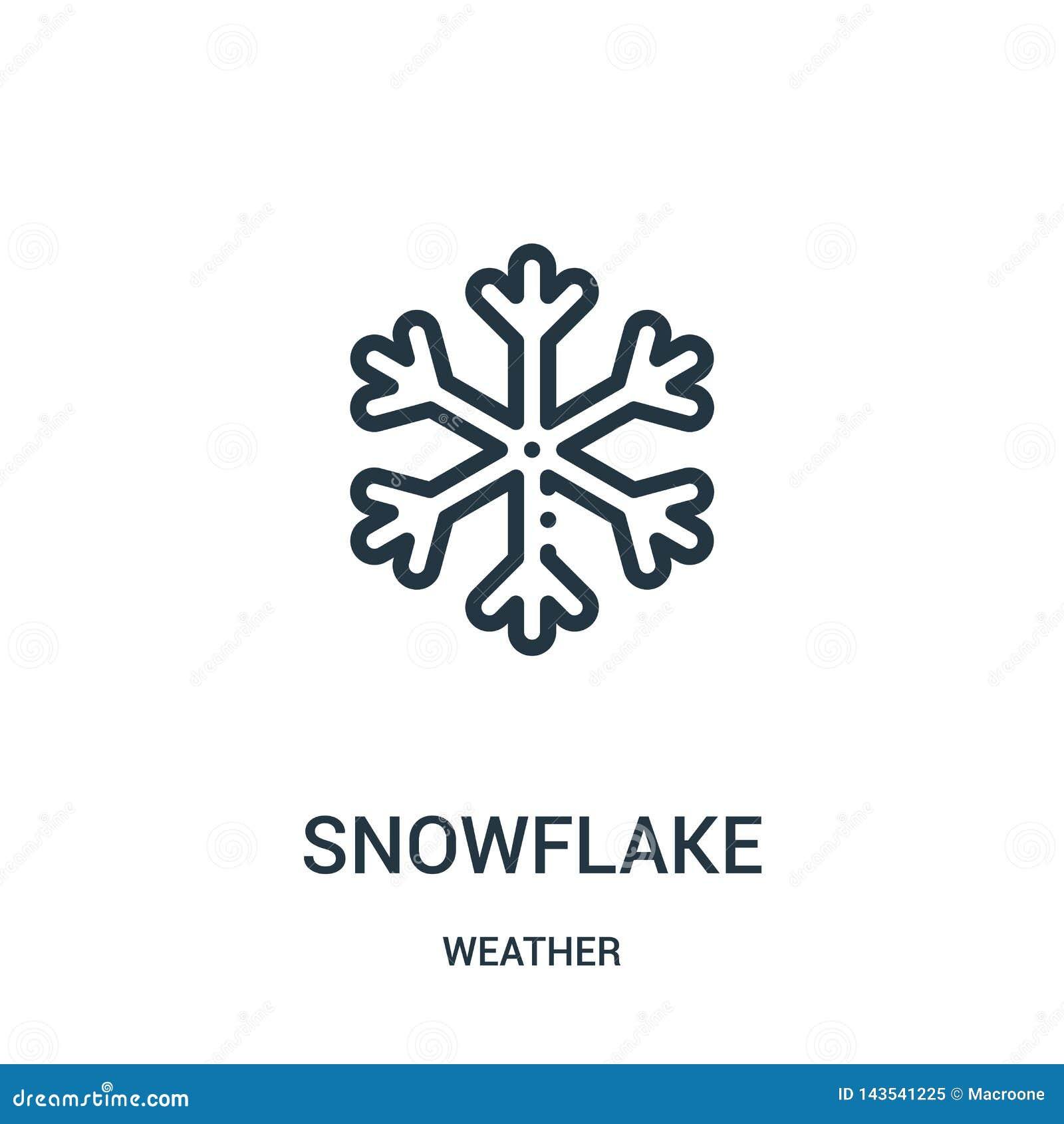 Vecteur d icône de flocon de neige de collection de temps Ligne mince illustration de vecteur d icône d ensemble de flocon de nei