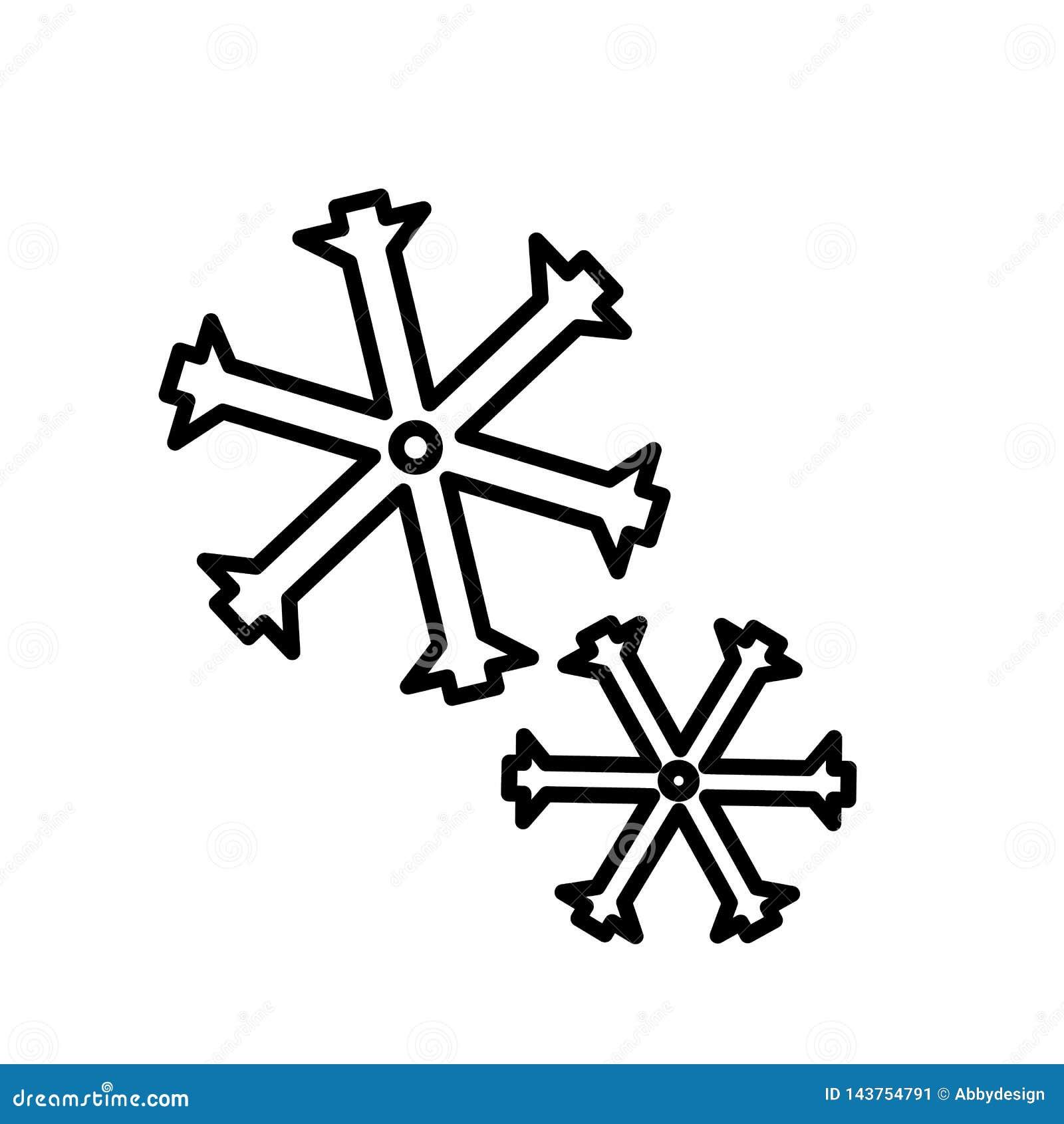 Vecteur d icône de flocons de neige