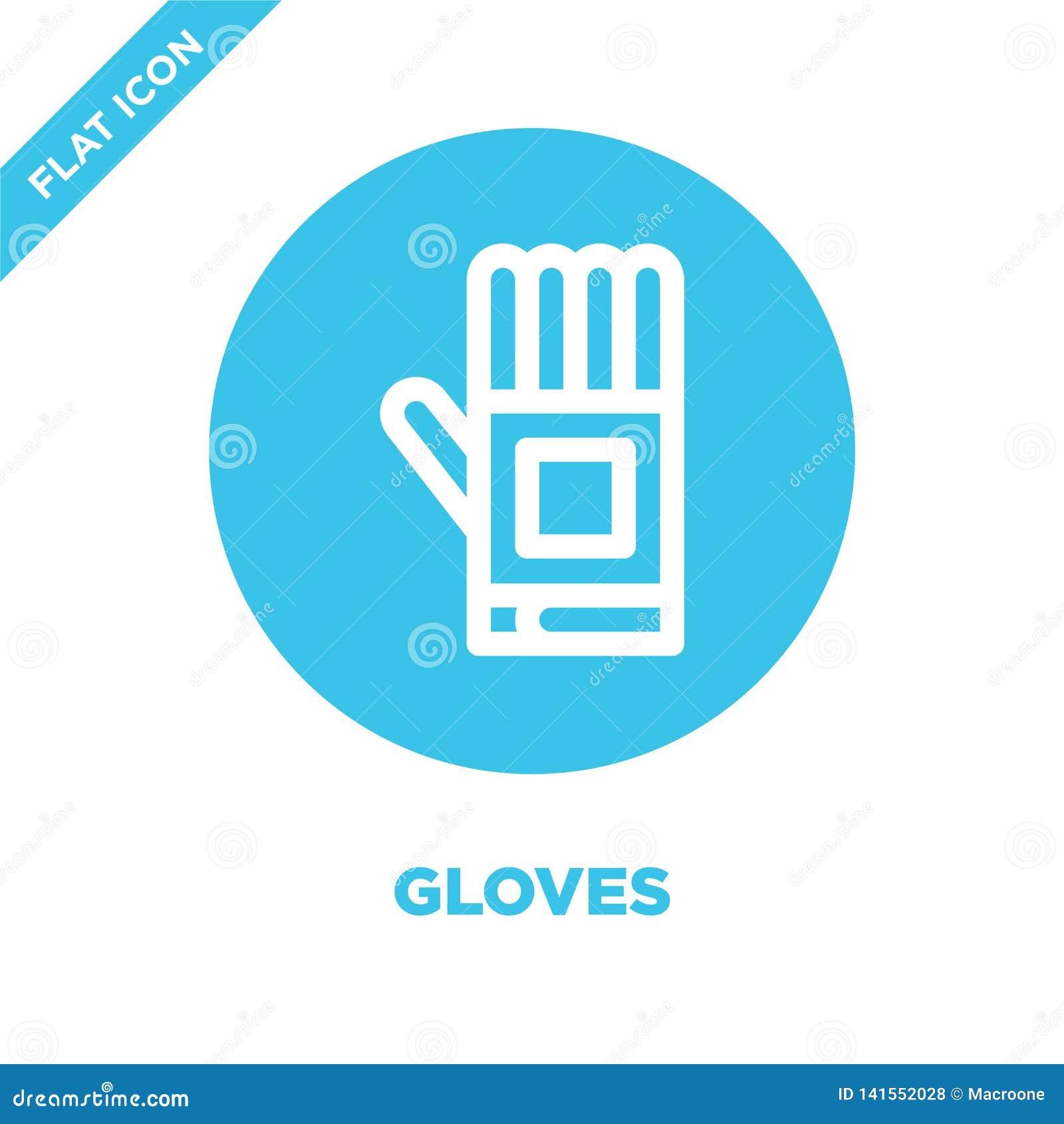 Vecteur d icône de gants Ligne mince illustration de vecteur d icône d ensemble de gants symbole de gants pour l usage sur le Web