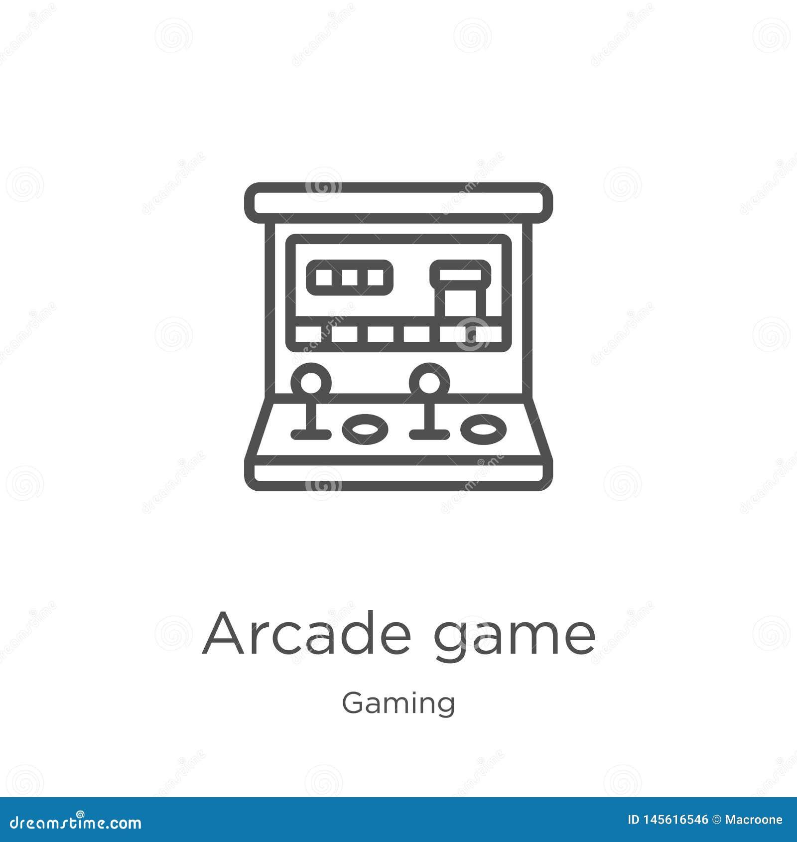 Vecteur d icône de jeu électronique de collection de jeu Ligne mince illustration de vecteur d icône d ensemble de jeu électroniq