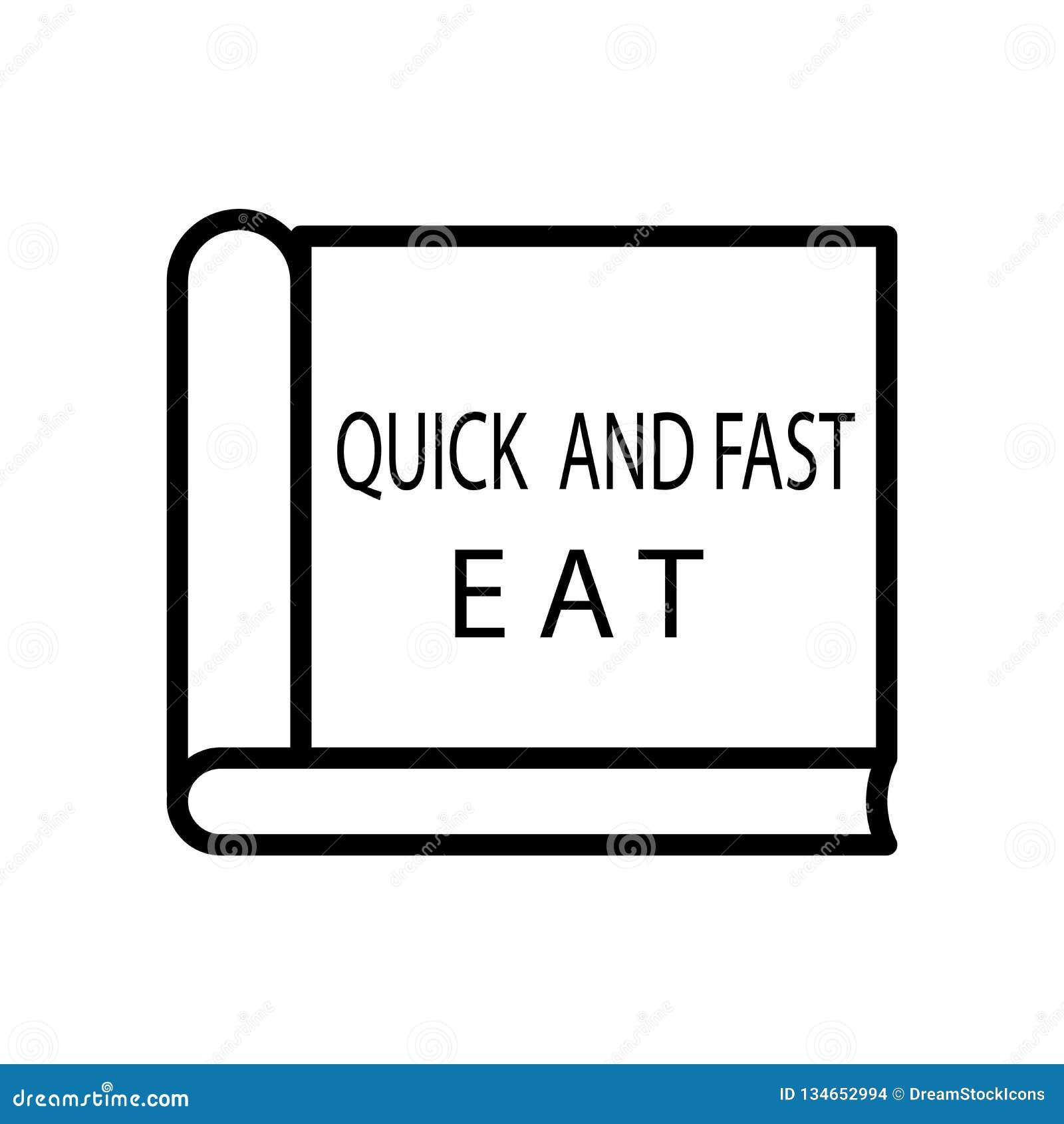 Vecteur D Icône De Livre De Cuisine D Isolement Sur Le Fond