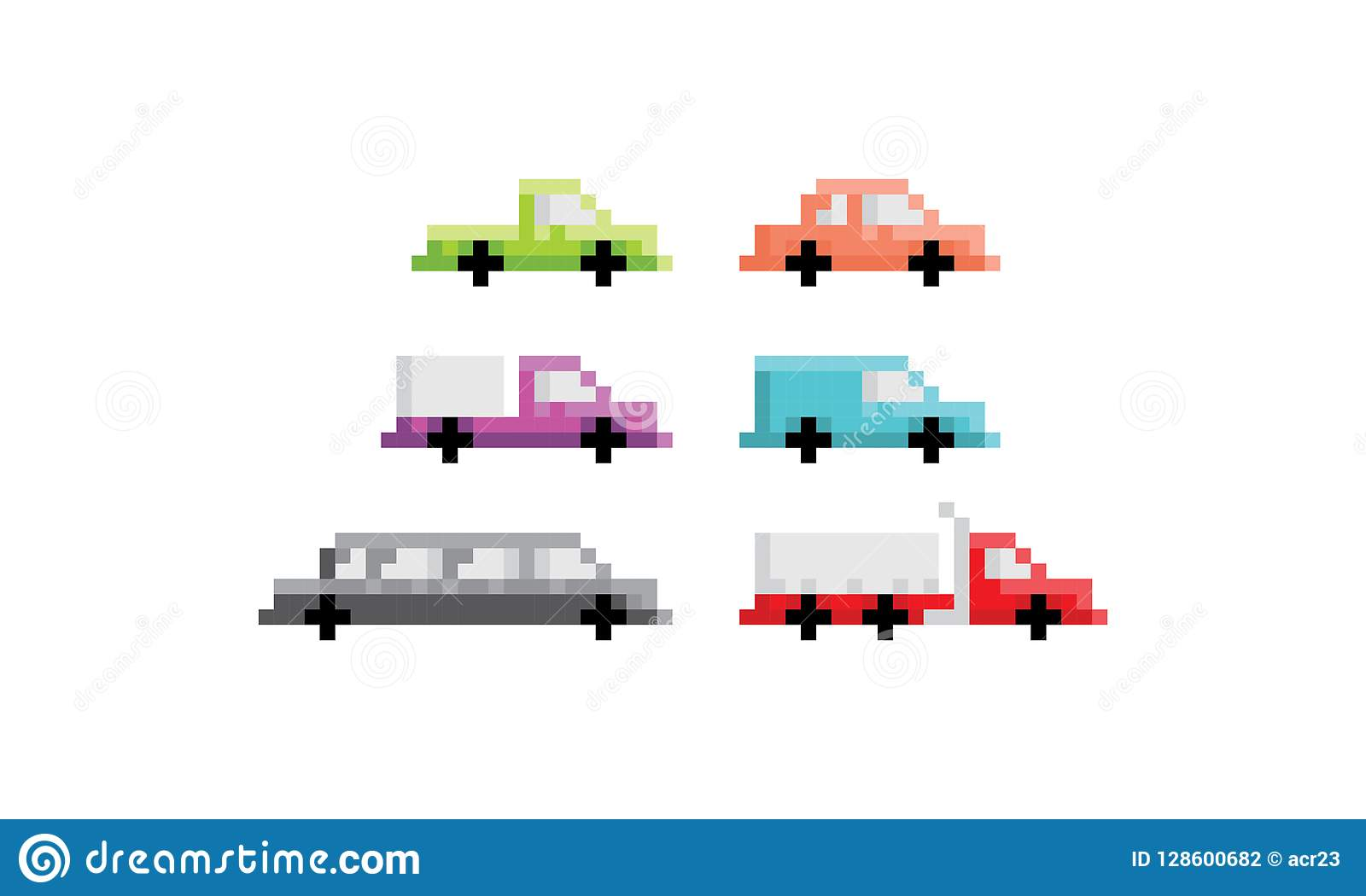 Vecteur Dicône De Logo De Camion De Voiture Dart De Pixel