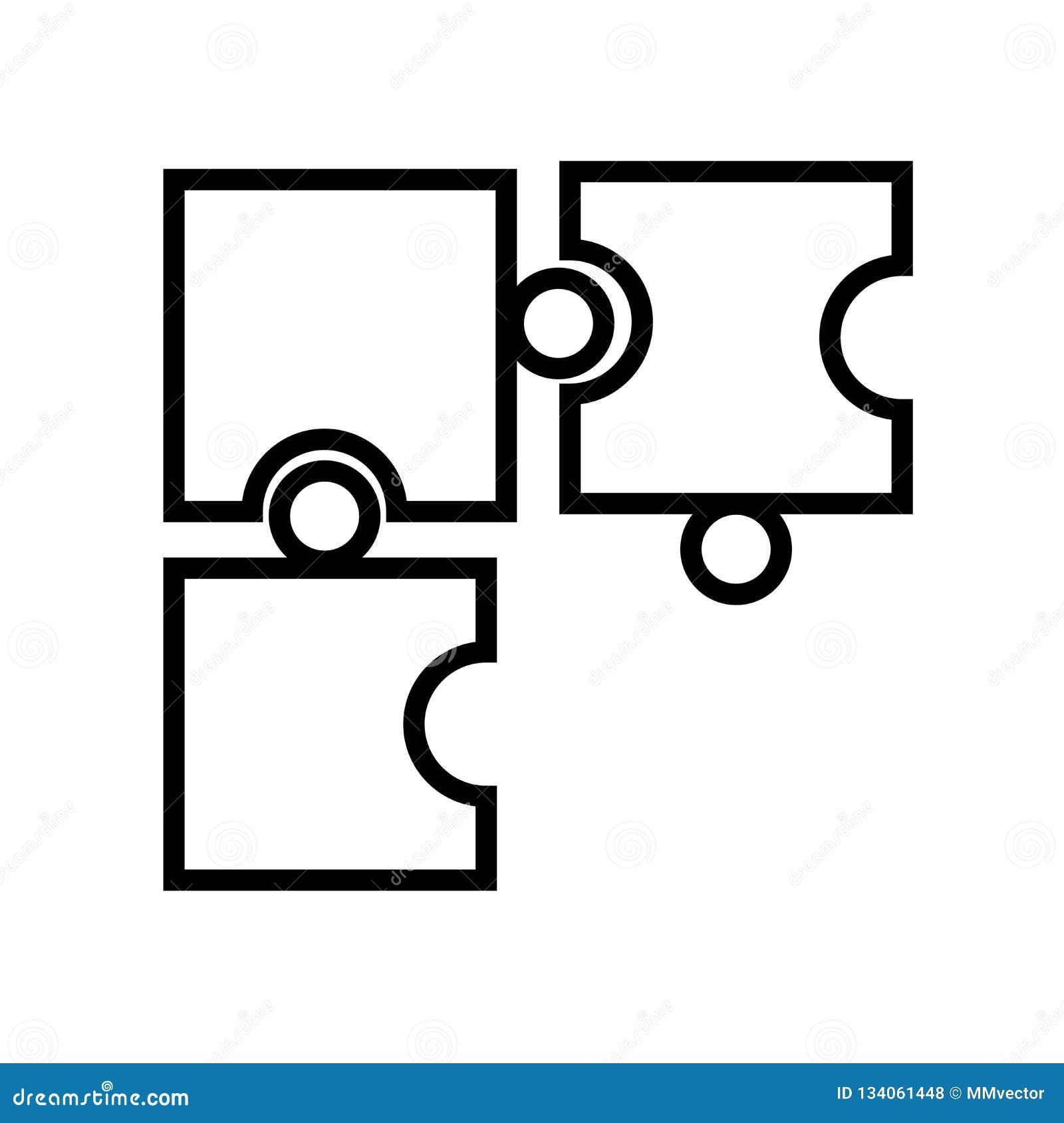 Vecteur d icône de morceau de jeu de puzzle d isolement sur le fond blanc, le signe de morceau de jeu de puzzle, le symbole linéa