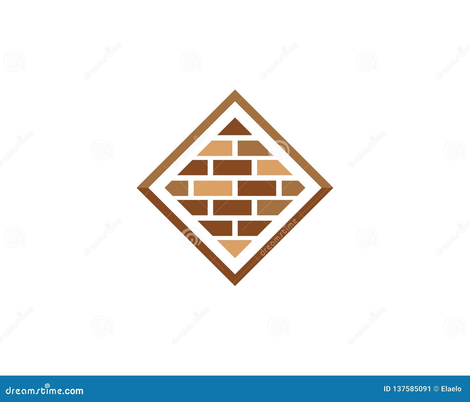 Vecteur d icône de mur de briques