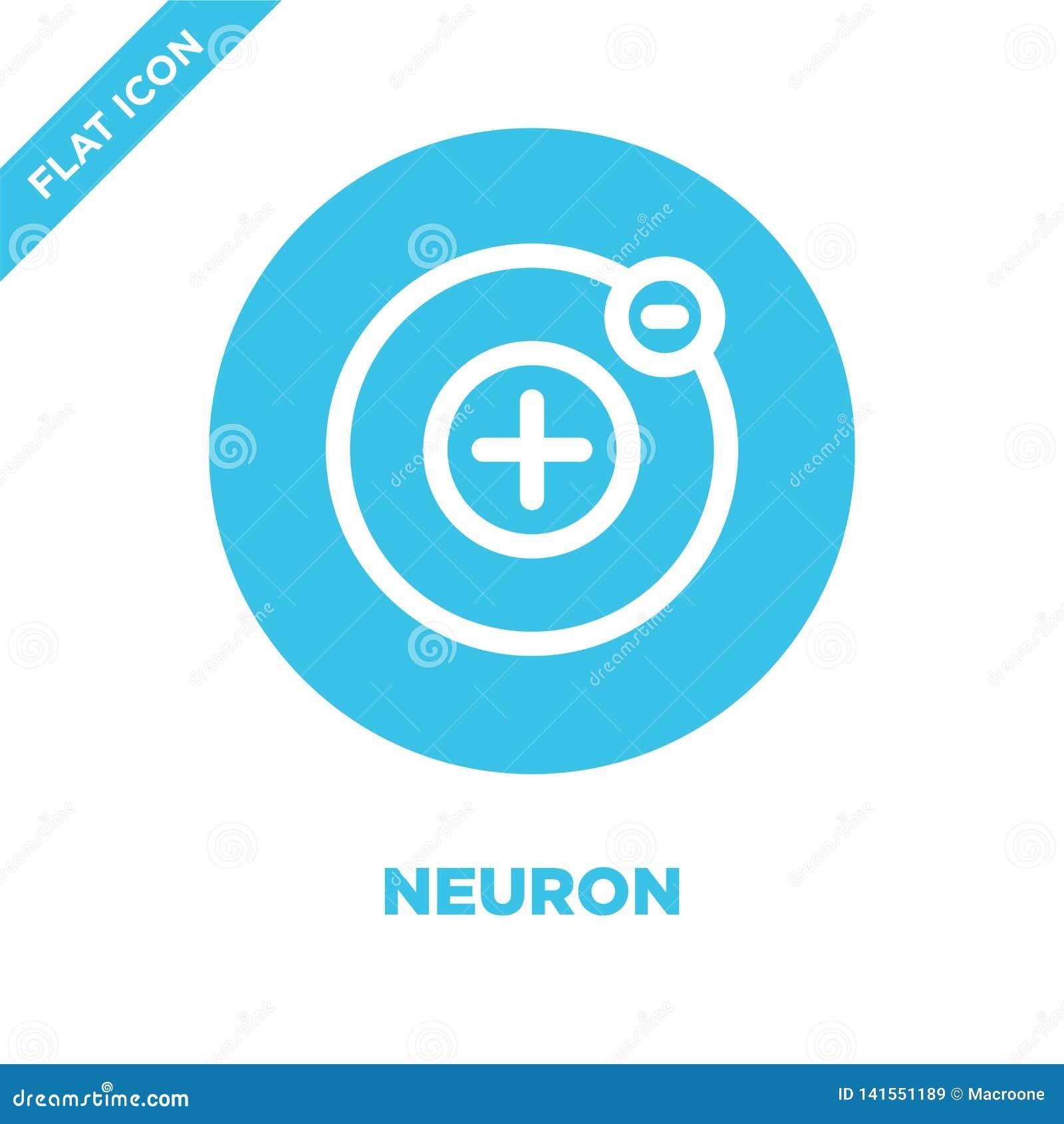 Vecteur d icône de neurone Ligne mince illustration de vecteur d icône d ensemble de neurone symbole de neurone pour l usage sur