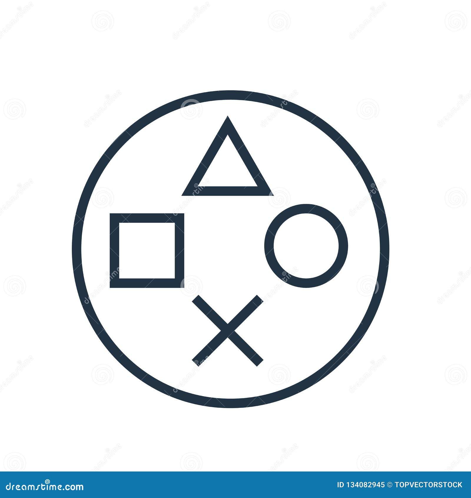 Vecteur d icône de Playstation d isolement sur le fond blanc, signe de Playstation