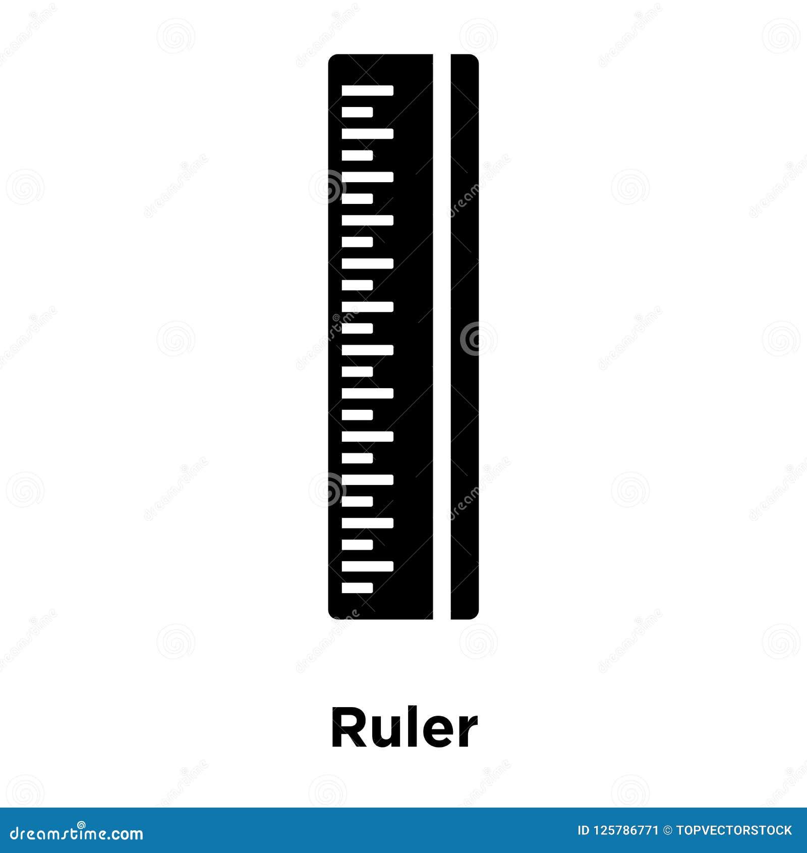 Vecteur d icône de règle d isolement sur le fond blanc, concept de logo de
