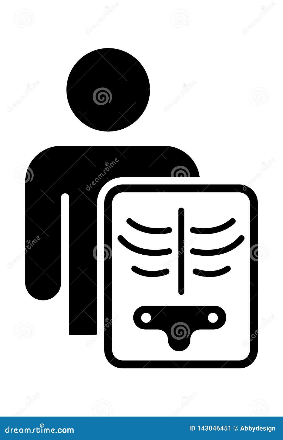 Vecteur d icône de rayon X