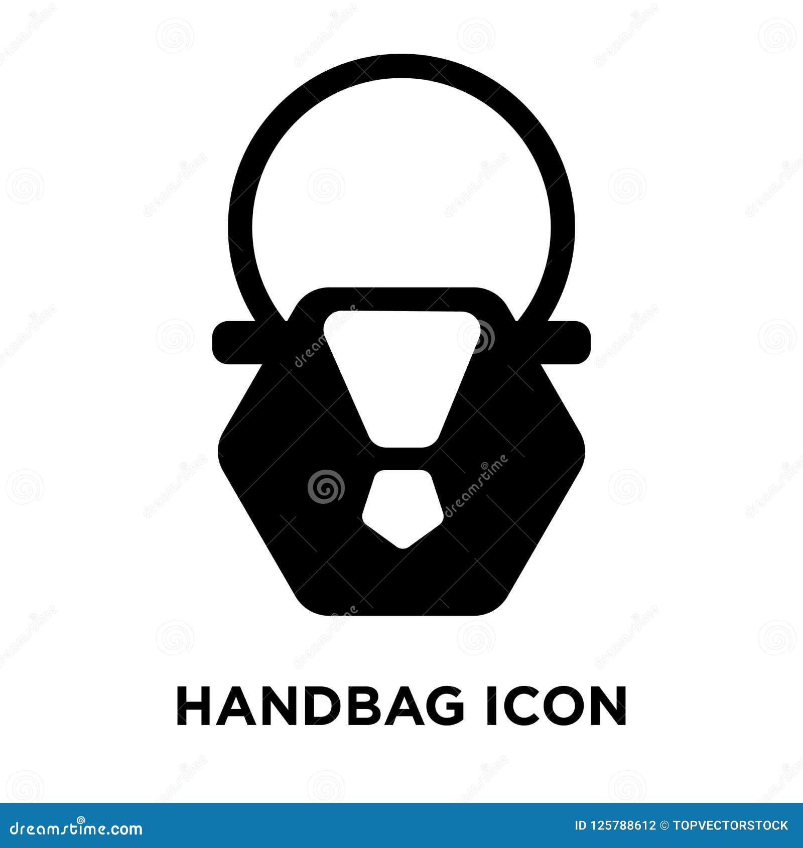 Vecteur d icône de sac à main d isolement sur le fond blanc, concept o de logo