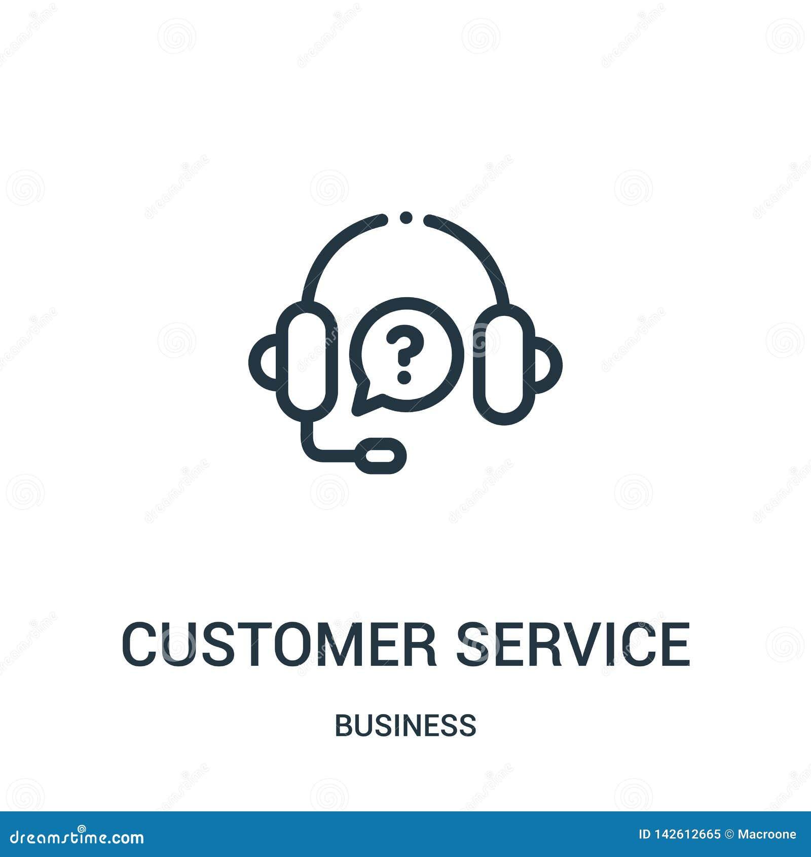 Vecteur d icône de service à la clientèle de collection d affaires Ligne mince illustration de vecteur d ic?ne d ensemble de serv