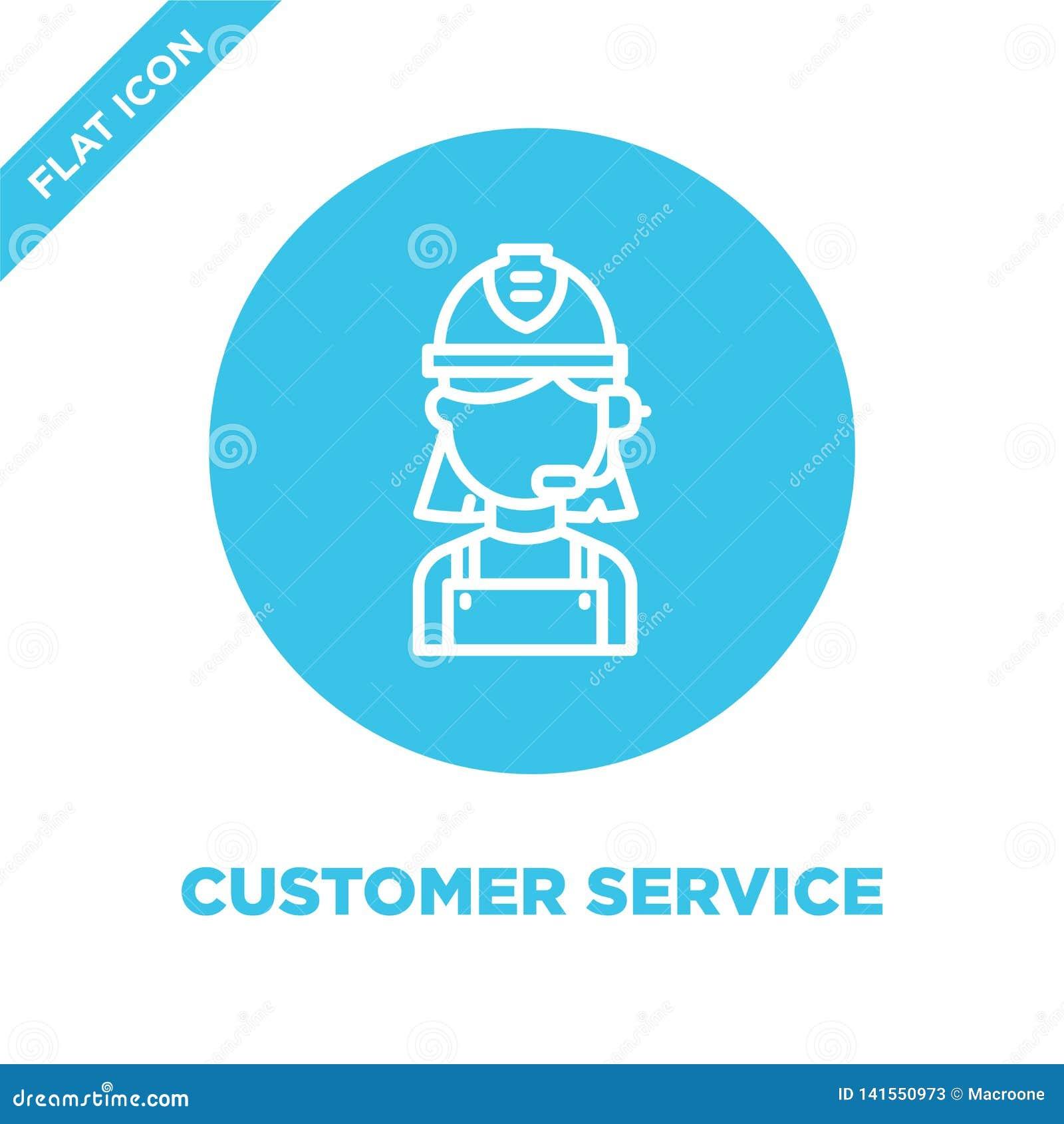 Vecteur d icône de service à la clientèle Ligne mince illustration de vecteur d icône d ensemble de service à la clientèle symbol
