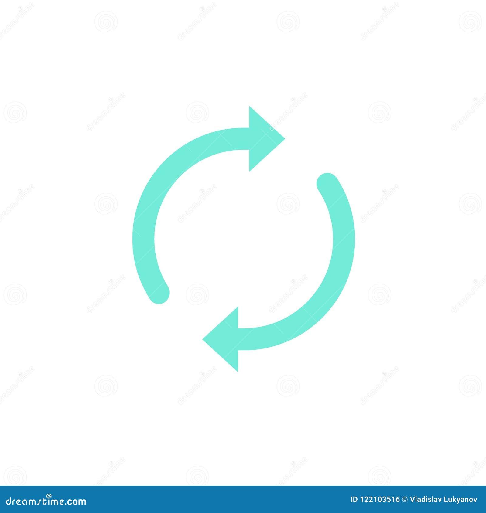 Vecteur d icône de synchronisation ou de mise à jour, flèches rondes comme synchronisent ou symbole de rotation, pictogramme de s