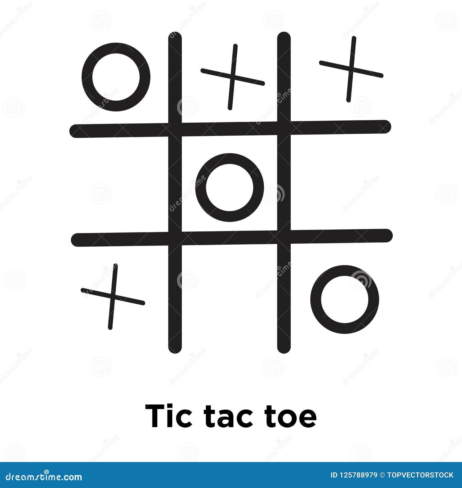 Vecteur d icône d orteil de tac de tic d isolement sur le fond blanc, conce de logo