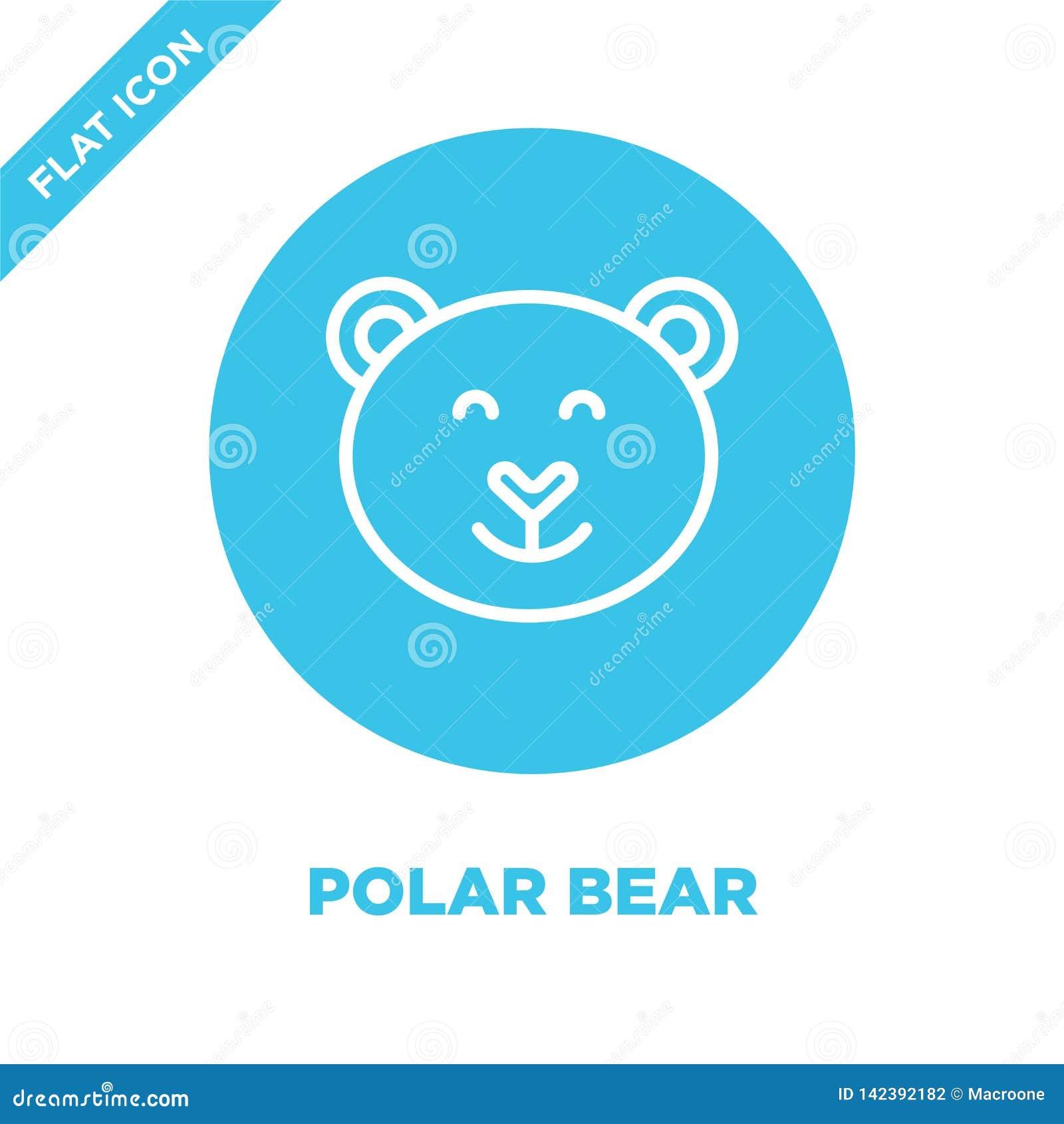 Vecteur d icône d ours blanc de collection de saisons Ligne mince illustration de vecteur d icône d ensemble d ours blanc Symbole