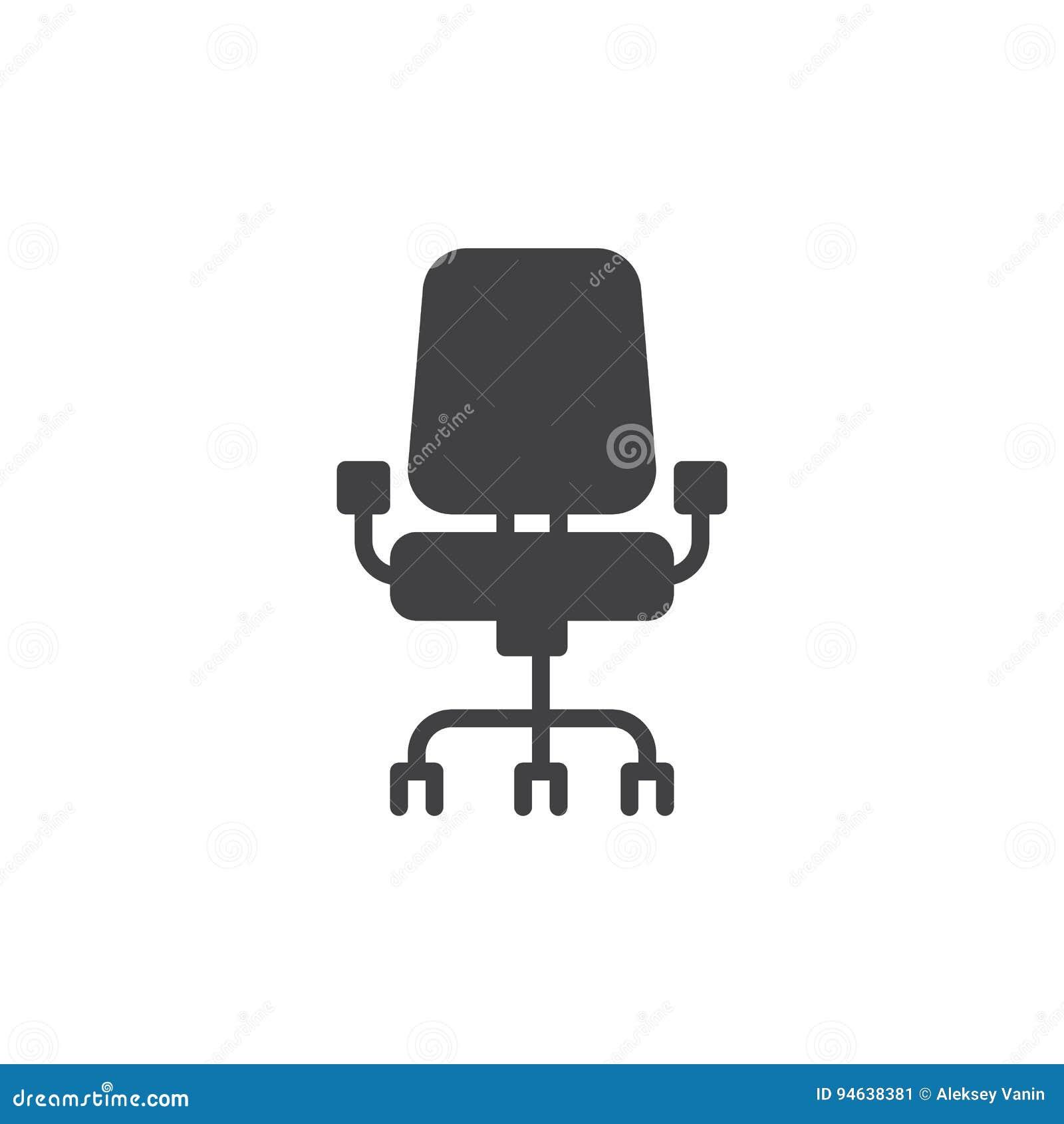 Vecteur D Icne De Chaise Bureau Signe Plat Rempli Pictogramme Solide Isolement