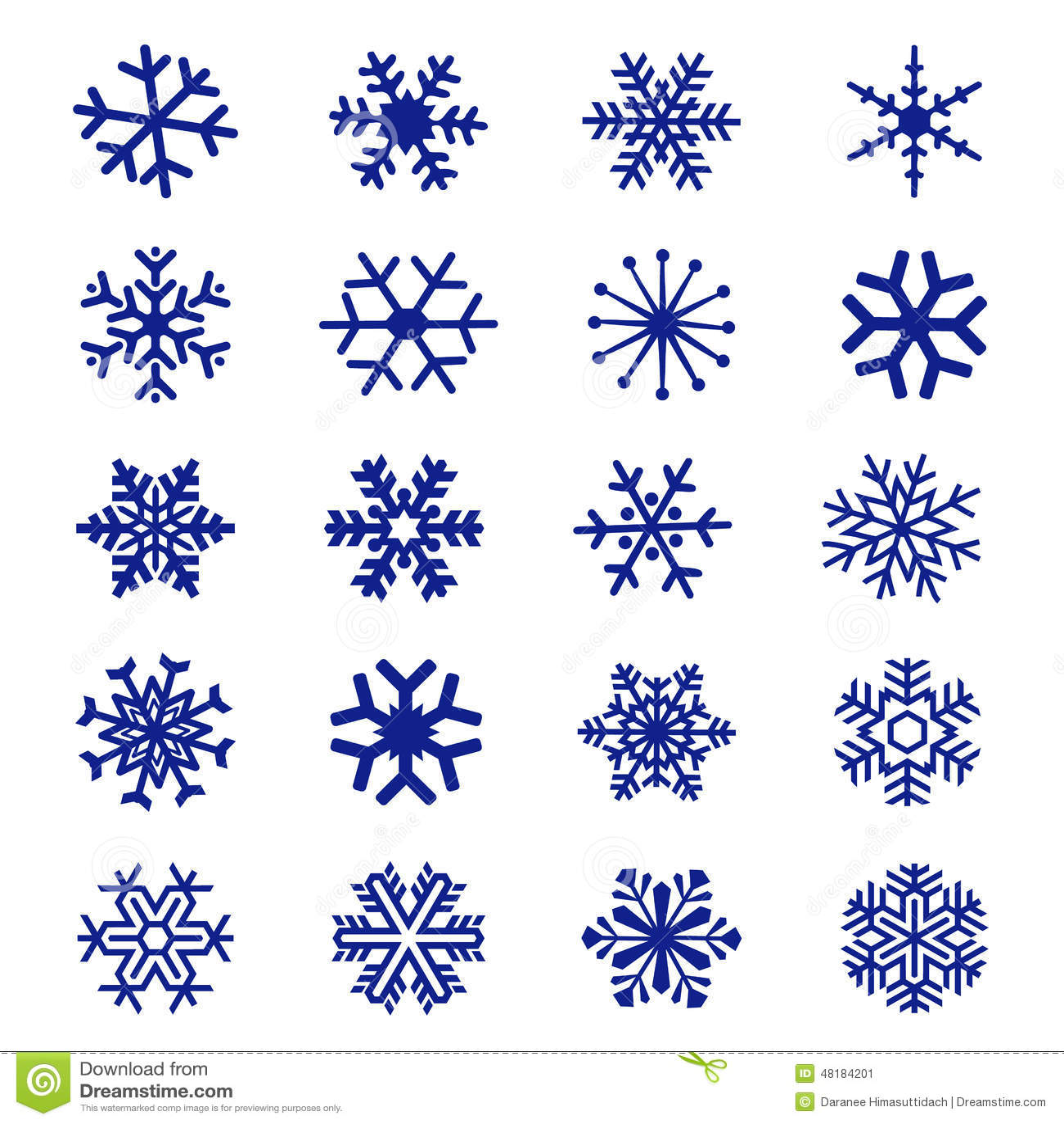 Vecteur d 39 ic ne de flocon de neige illustration de vecteur image 48184201 - Gabarit flocon de neige a decouper ...